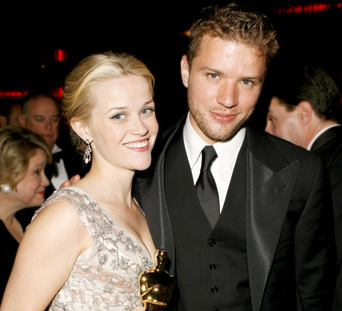 Reese Witherspoon and Ryan Phillippe attend The 78th Annual Academy Awards Governor's Ball in 2006.