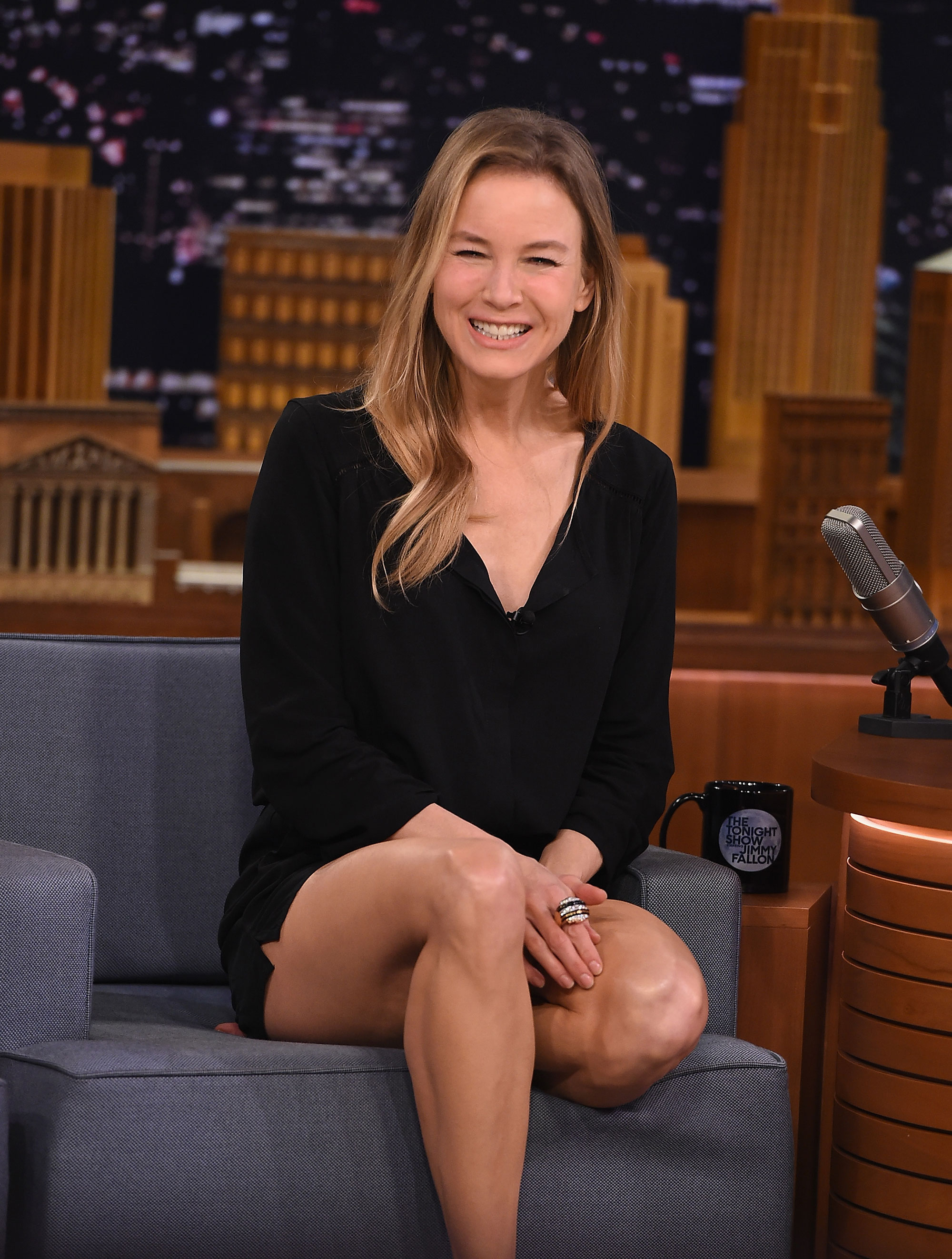 Renee Zellweger was all smiles during her appearance on 'The Tonight Show Starring Jimmy Fallon'