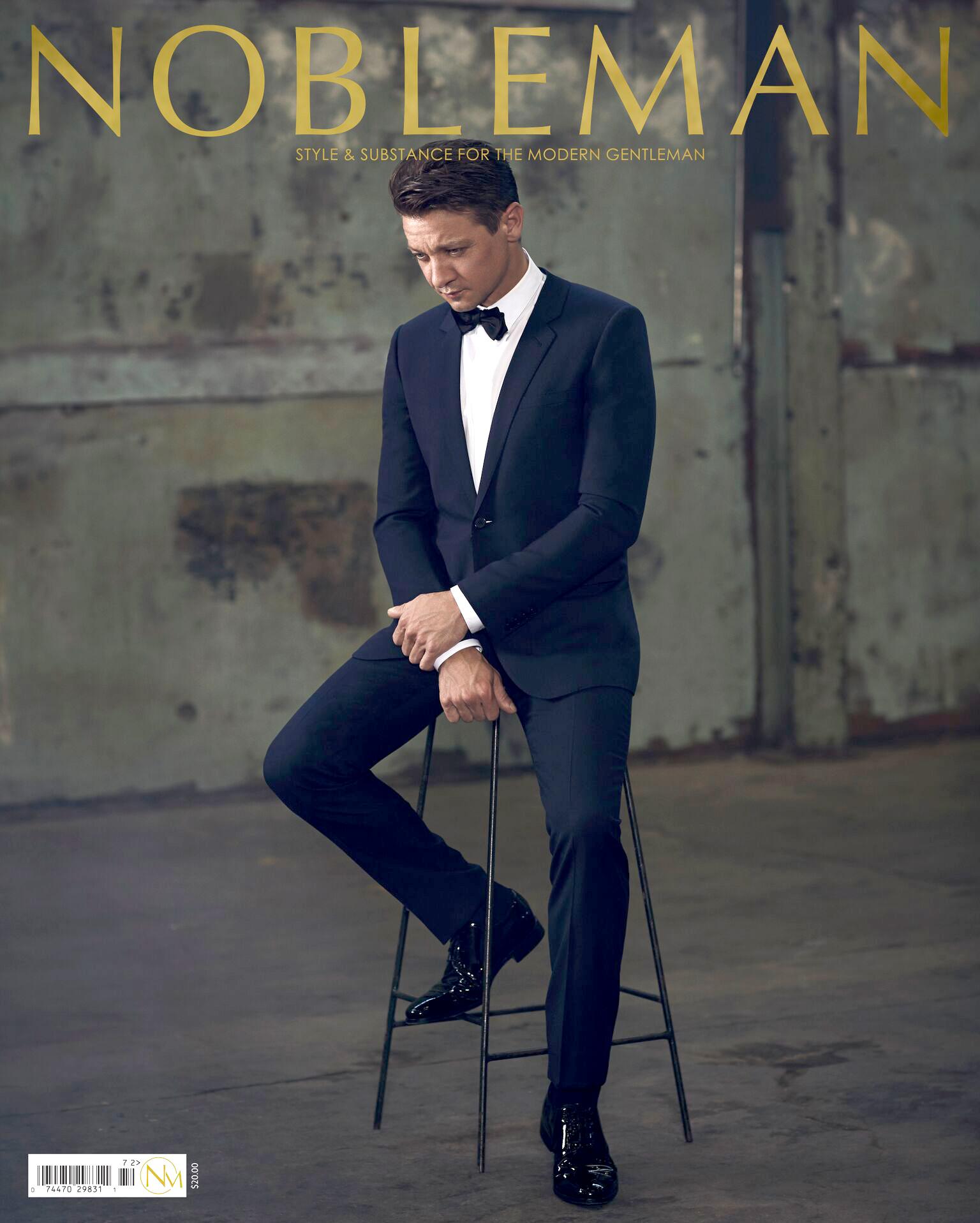 Jeremy Renner for Nobleman Mag