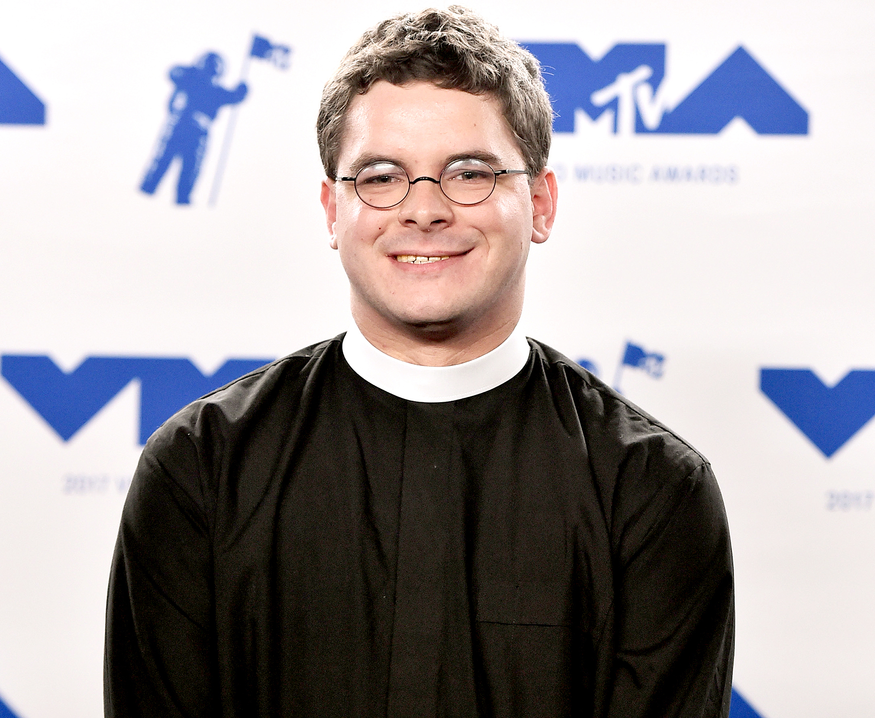 Reverend Robert Wright Lee IV poses in the press room during the 2017 MTV Video Music Awards at The Forum in Inglewood, California, on August 27, 2017.
