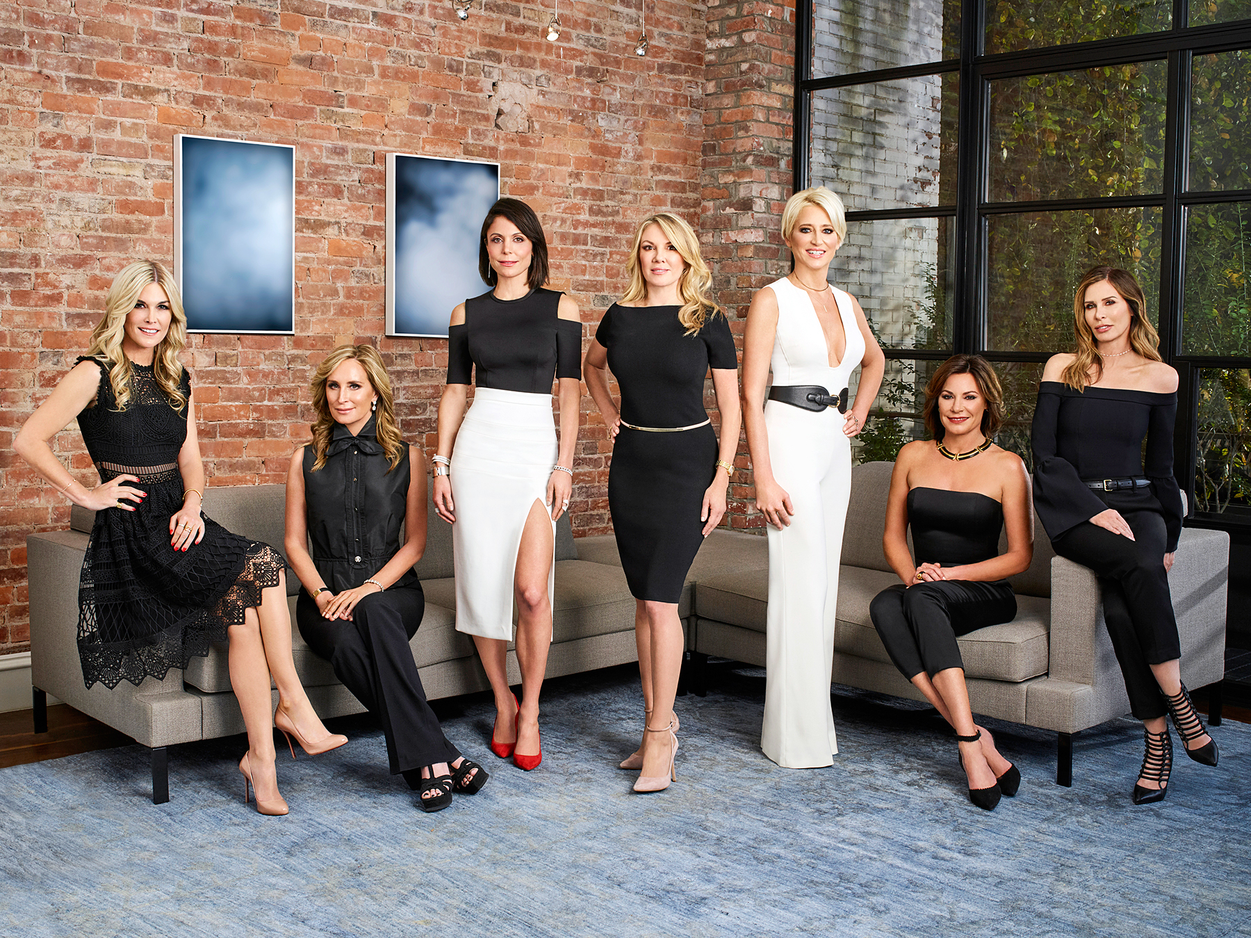 Tinsley Mortimer, Sonja Morgan, Bethenny Frankel, Ramona Singer, Dorinda Medley, Luann D'Agostino, Carole Radziwill The Real Housewives of New York RHONY