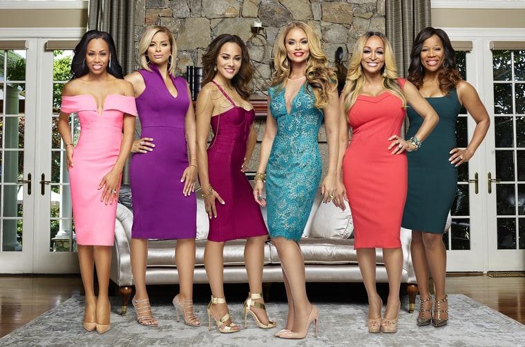 Monique Samuels, Robyn Dixon, Ashley Boalch Darby, Gizelle Bryant, Karen Huger and Charrisse Jackson-Jordan Tommy.
