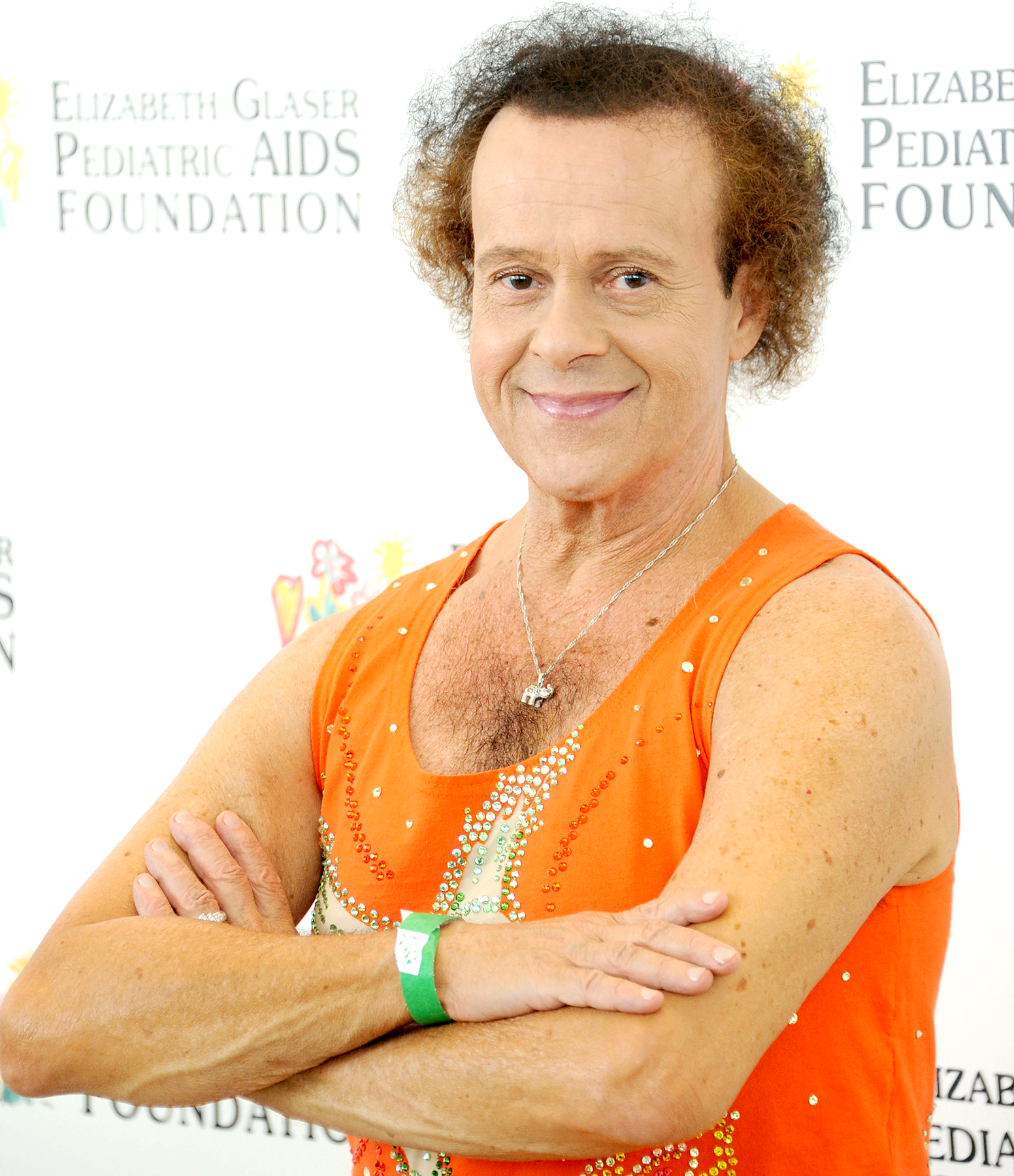 Richard Simmons arrives at the Elizabeth Glaser Pediatric AIDS Foundation's 24th Annual