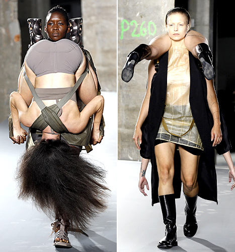 Rick Owens Fashion Show (carrying front)