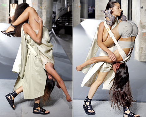 Rick Owens Fashion Show (carrying side)