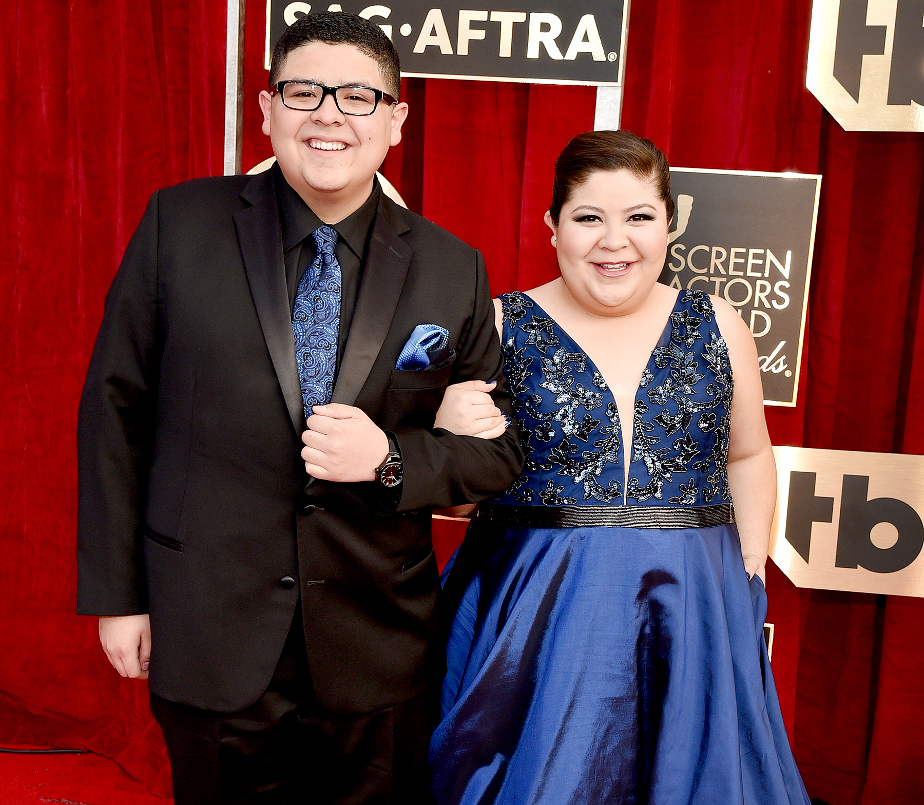 Rico Rodriguez and Raini Rodriguez attend the 23rd Annual Screen Actors Guild Awards.