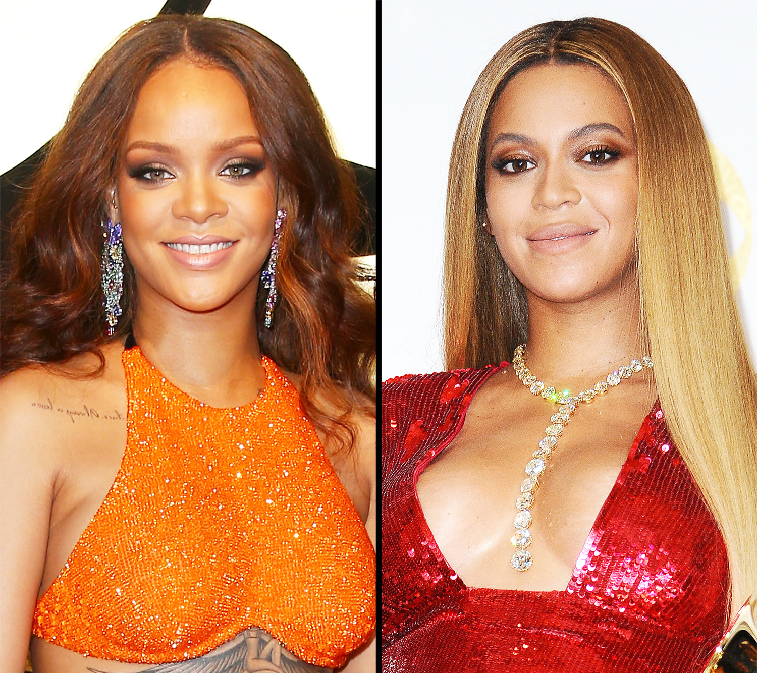 Beyonce and Rihanna Blow Kisses at Each Other: Watch