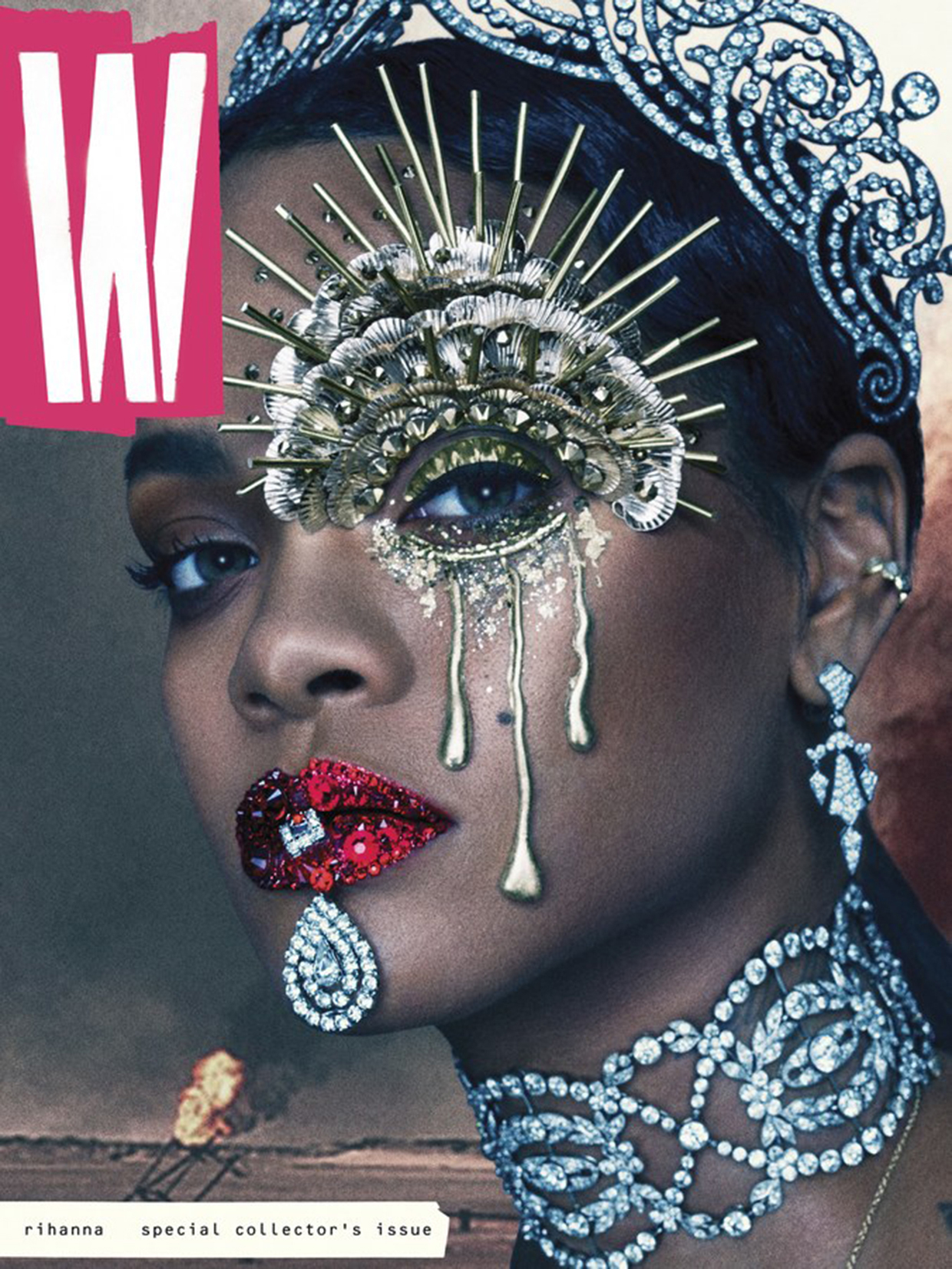 Rihanna on the cover of W