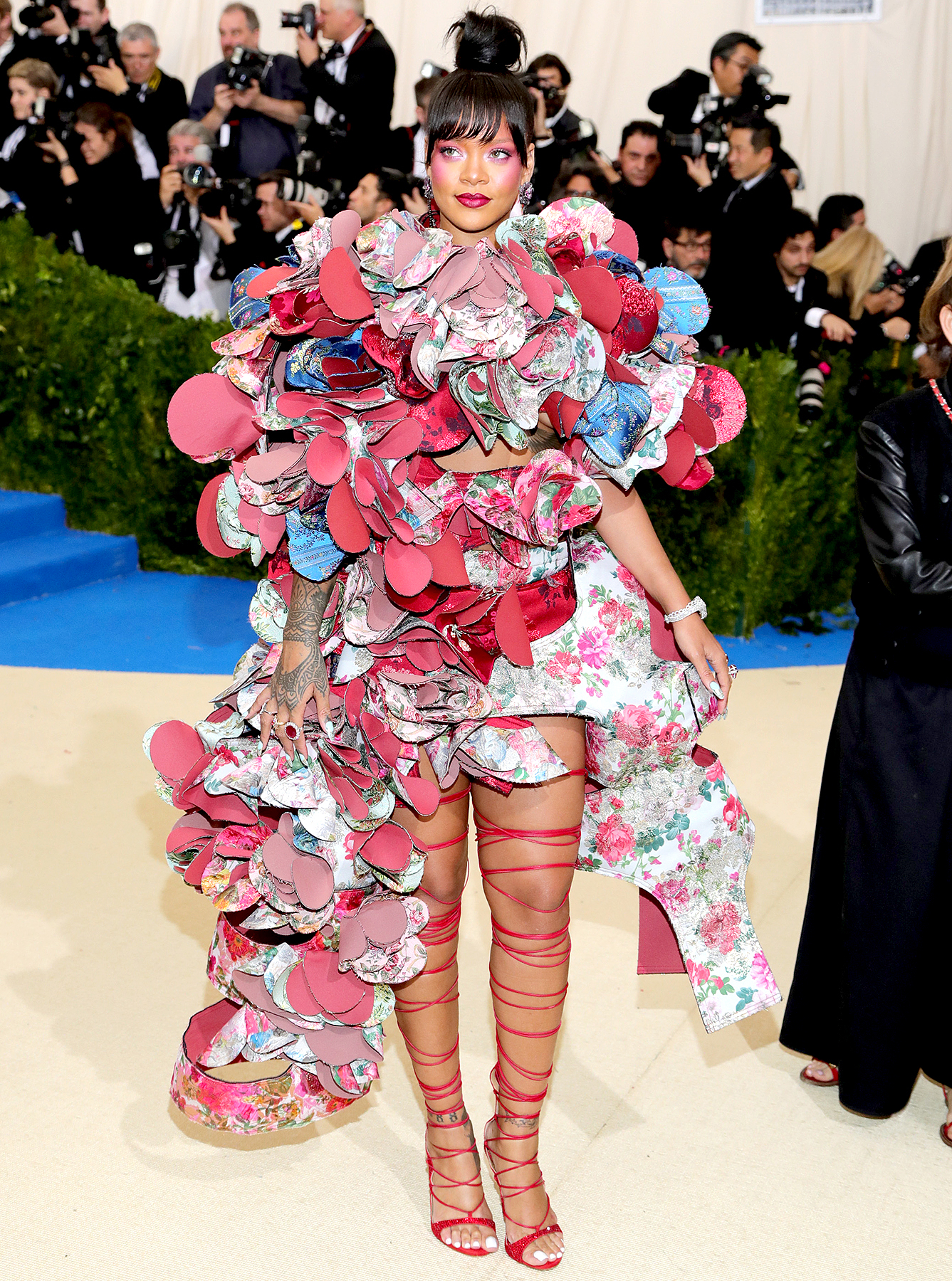 """Rihanna attends the """"Rei Kawakubo/Comme des Garcons: Art Of The In-Between"""" Costume Institute Gala at Metropolitan Museum of Art on May 1, 2017 in New York City."""