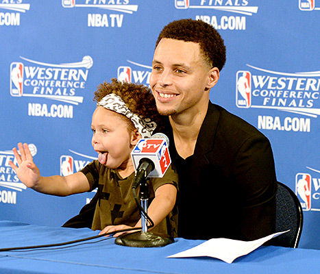 Riley and Stephen Curry