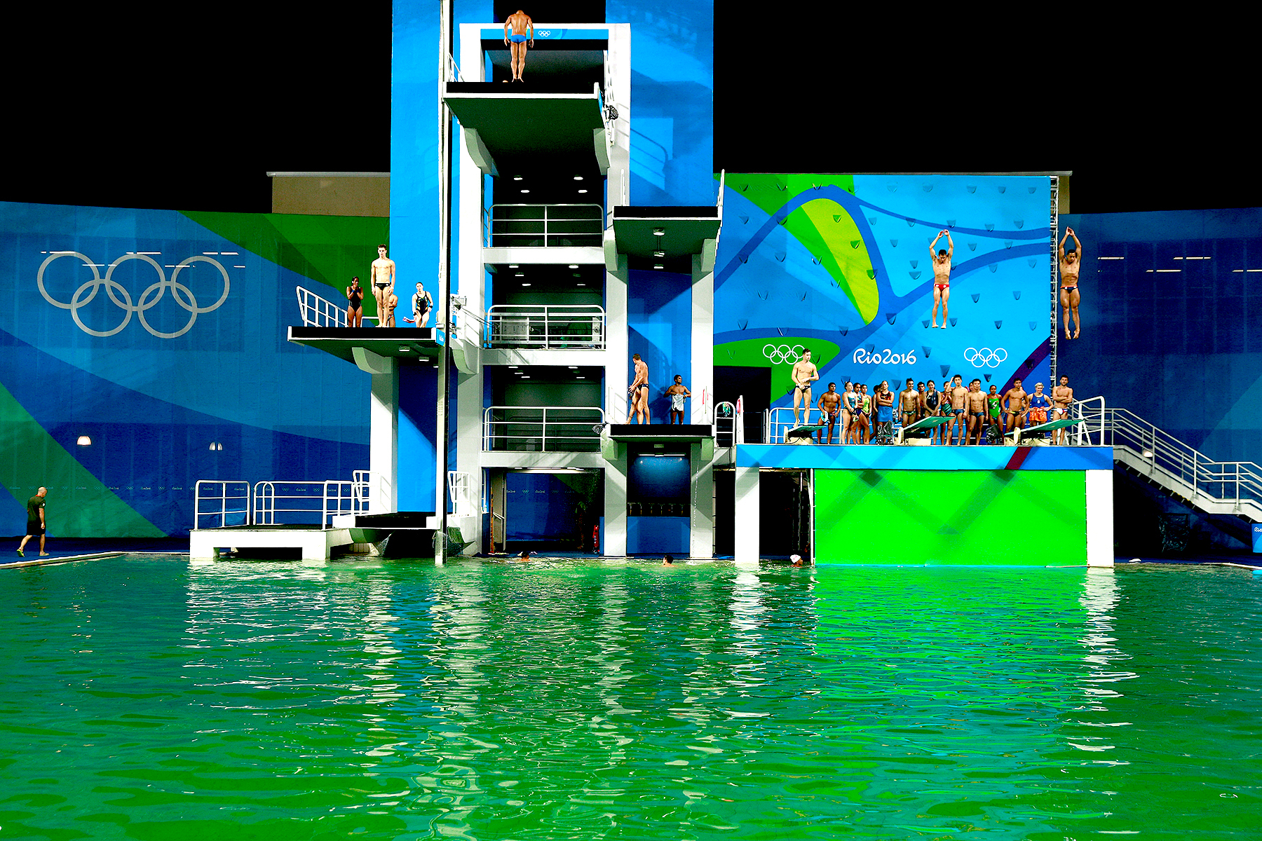 General view of the diving pool at Maria Lenk Aquatics Centre on Day 4 of the Rio 2016 Olympic Games on August 9, 2016 in Rio de Janeiro, Brazil.