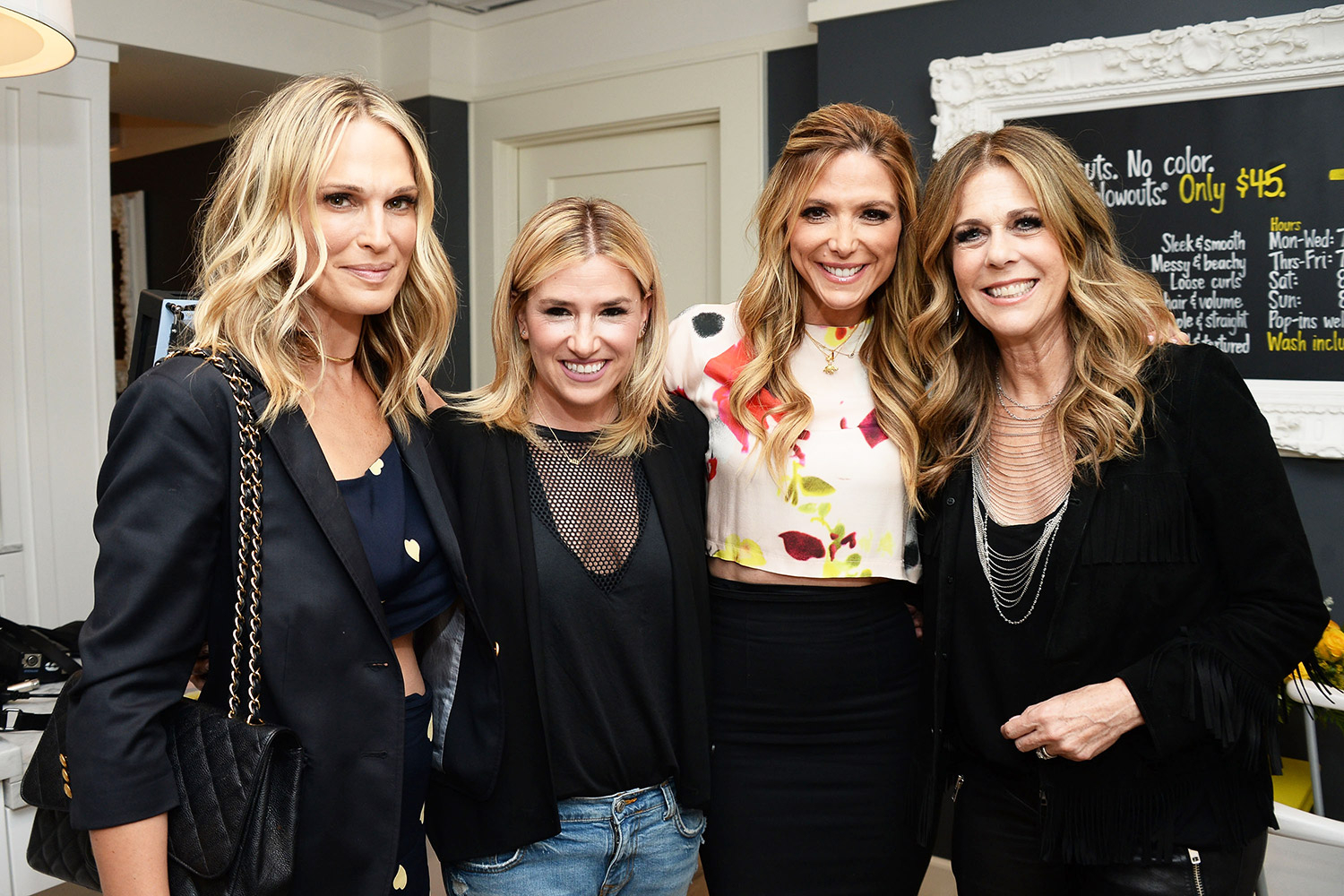 Molly Sims, Debbie Matenopoulos, Alli Webb, and Rita Wilson at Drybar in Beverly Hills