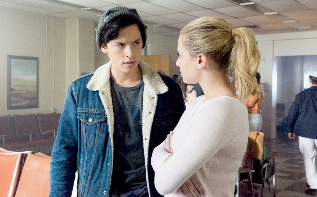 Cole Sprouse as Jughead Jones and Lili Reinhart as Betty Cooper on Riverdale