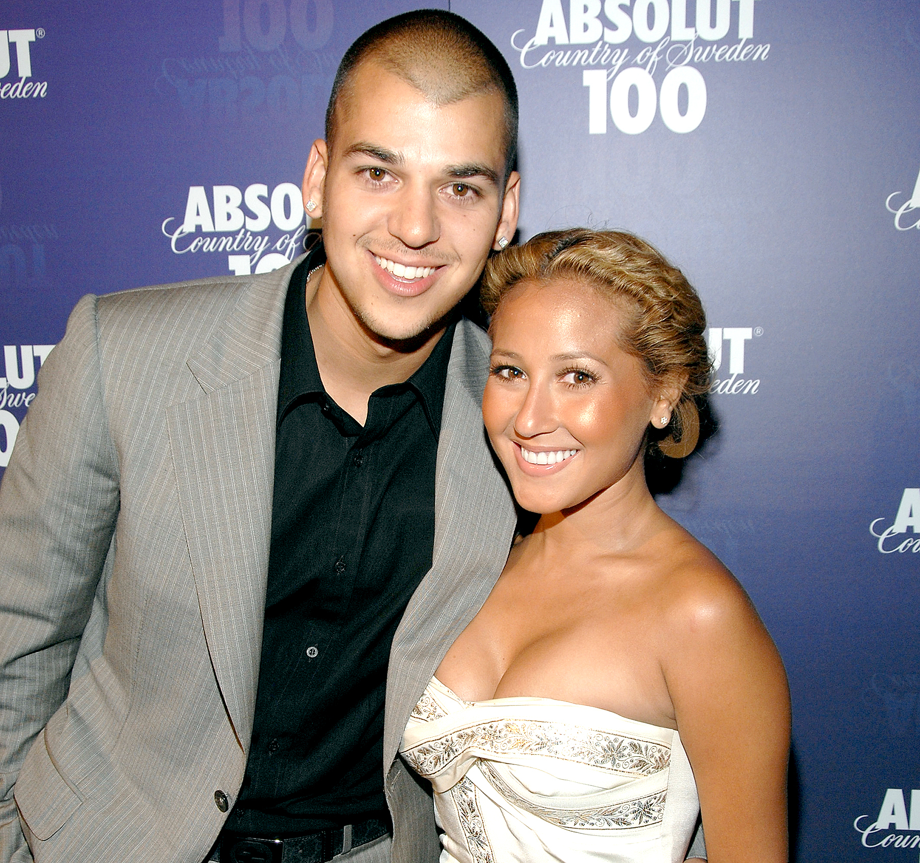 Rob Kardashian and Adrienne Bailon of the Cheetah Girls arrive at the