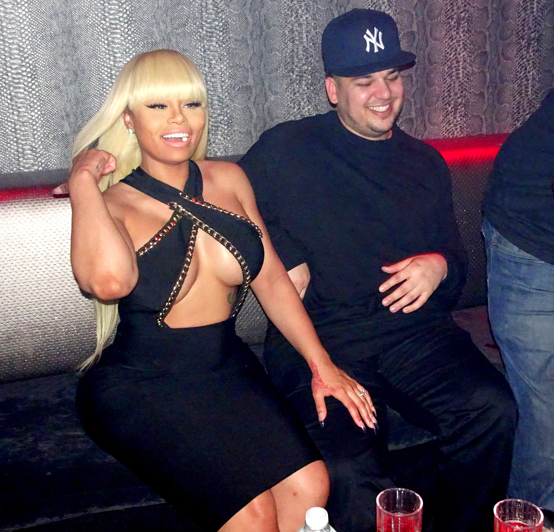 Rob Kardashian and Blac Chyna at Aces strip club in NYC.