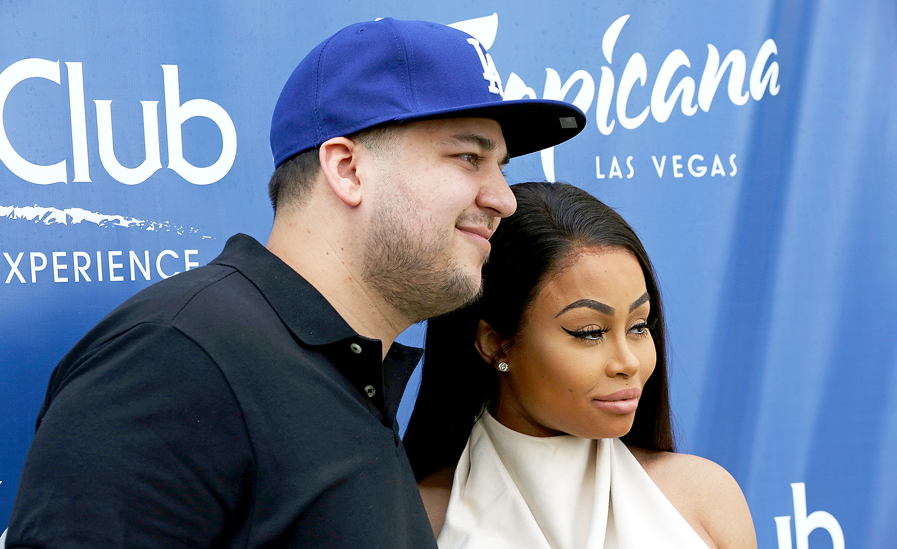 Rob Kardashian and Blac Chyna attend the Sky Beach Club at the Tropicana Las Vegas on May 28, 2016 in Las Vegas, Nevada.
