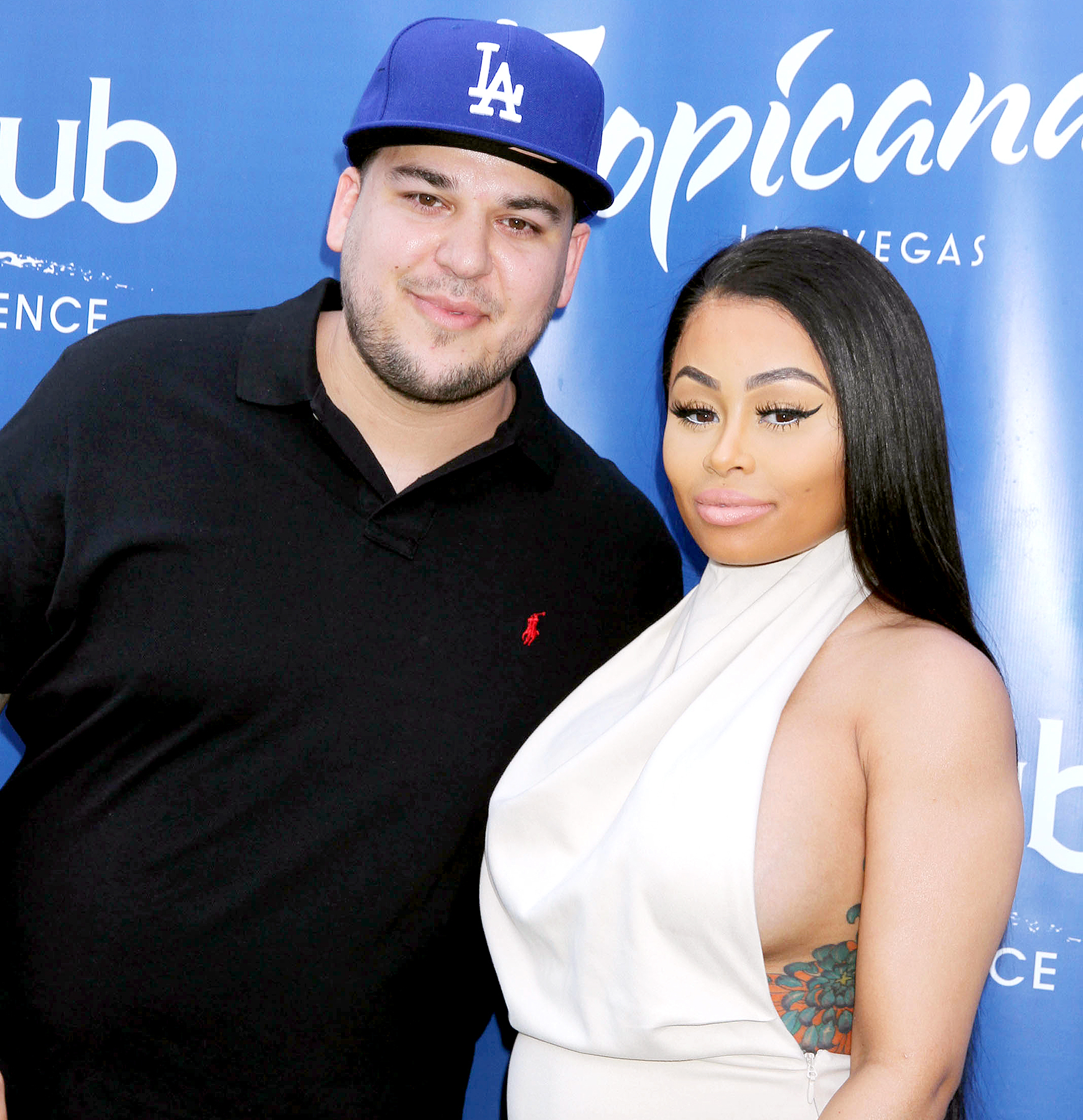 Rob Kardashian and Blac Chyna at Sky Beach Club at The Tropicana Hotel in May 2016.