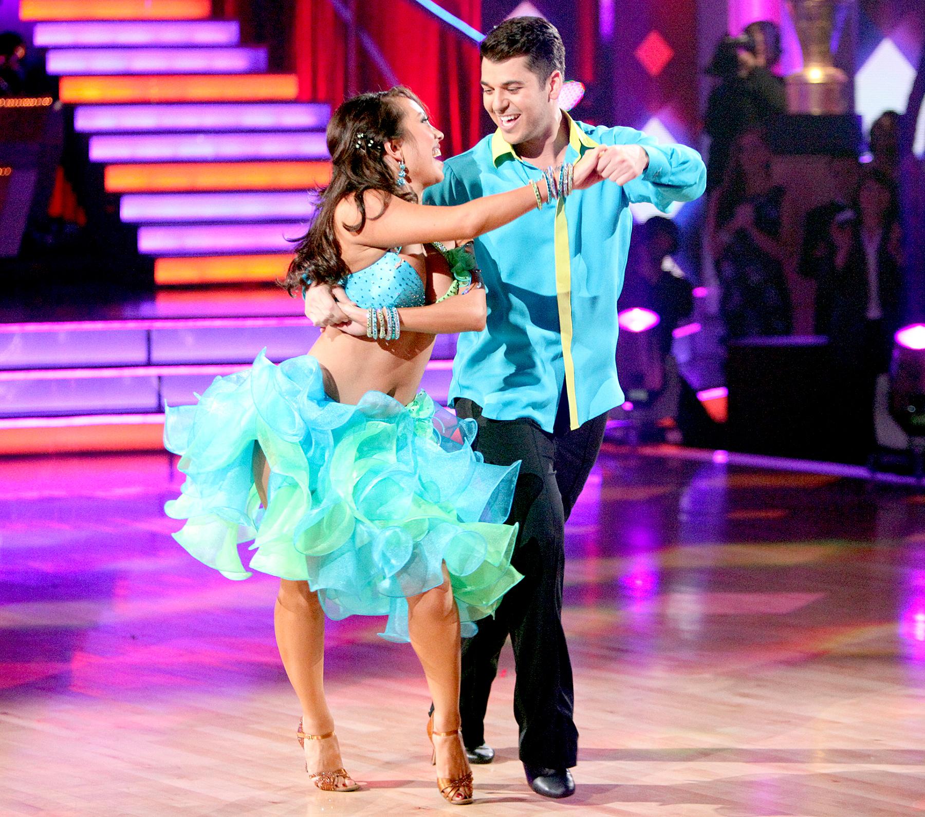 Cheryl Burke and Rob Kardashian on Dancing with the Stars.