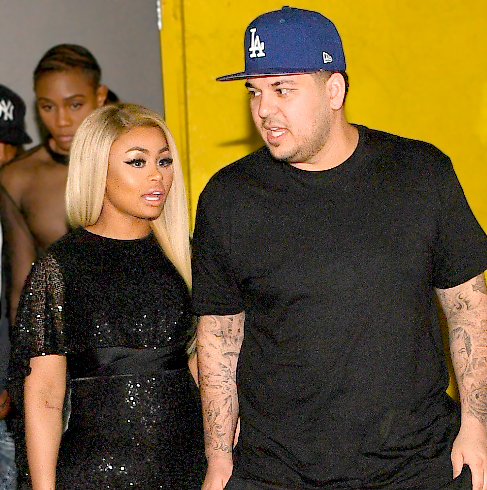 Blac Chyna and Rob Kardashian at Onyx Nightclub in Atlanta, Georgia, on March 27, 2016.