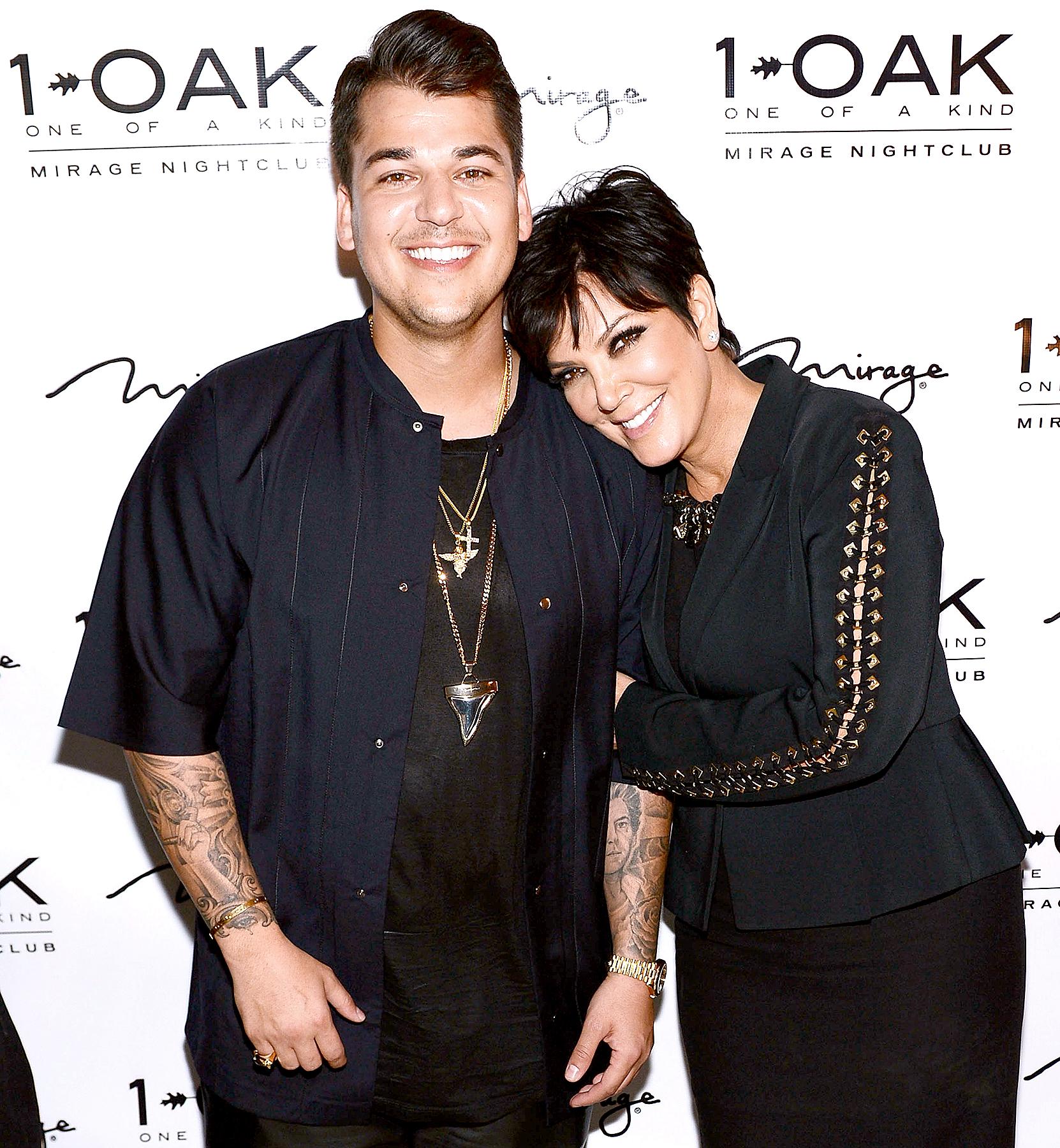 Rob Kardashian and Kris Jenner in 2013.