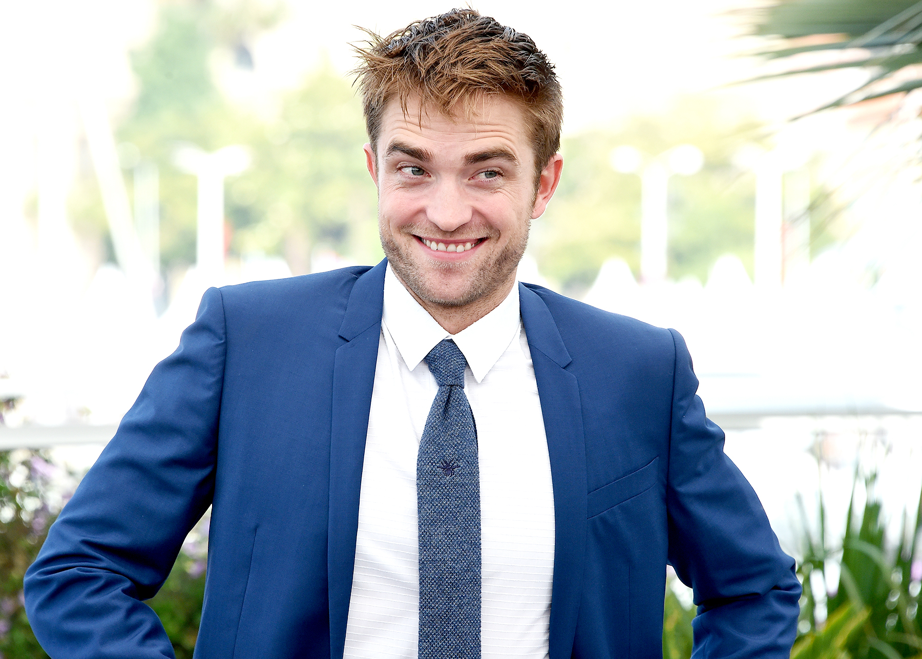 """Robert Pattinson poses at the photocall for the movie """"Good Time"""" on the ninth day of the Cannes Film Festival on May 25, 2017 in Cannes, France."""