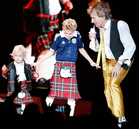 Rod Stewart and his sons