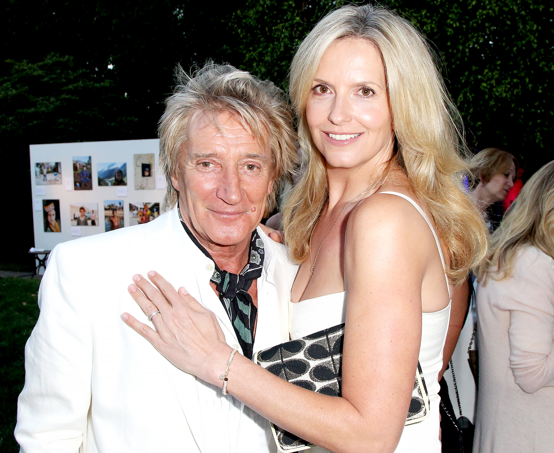 Rod Stewart and Penny Lancaster attend the Theirworld & Astley Clarke summer reception in celebration of charitable partnership at the private residence of the British Consul General in Los Angeles on June 2, 2015 in Los Angeles, California.