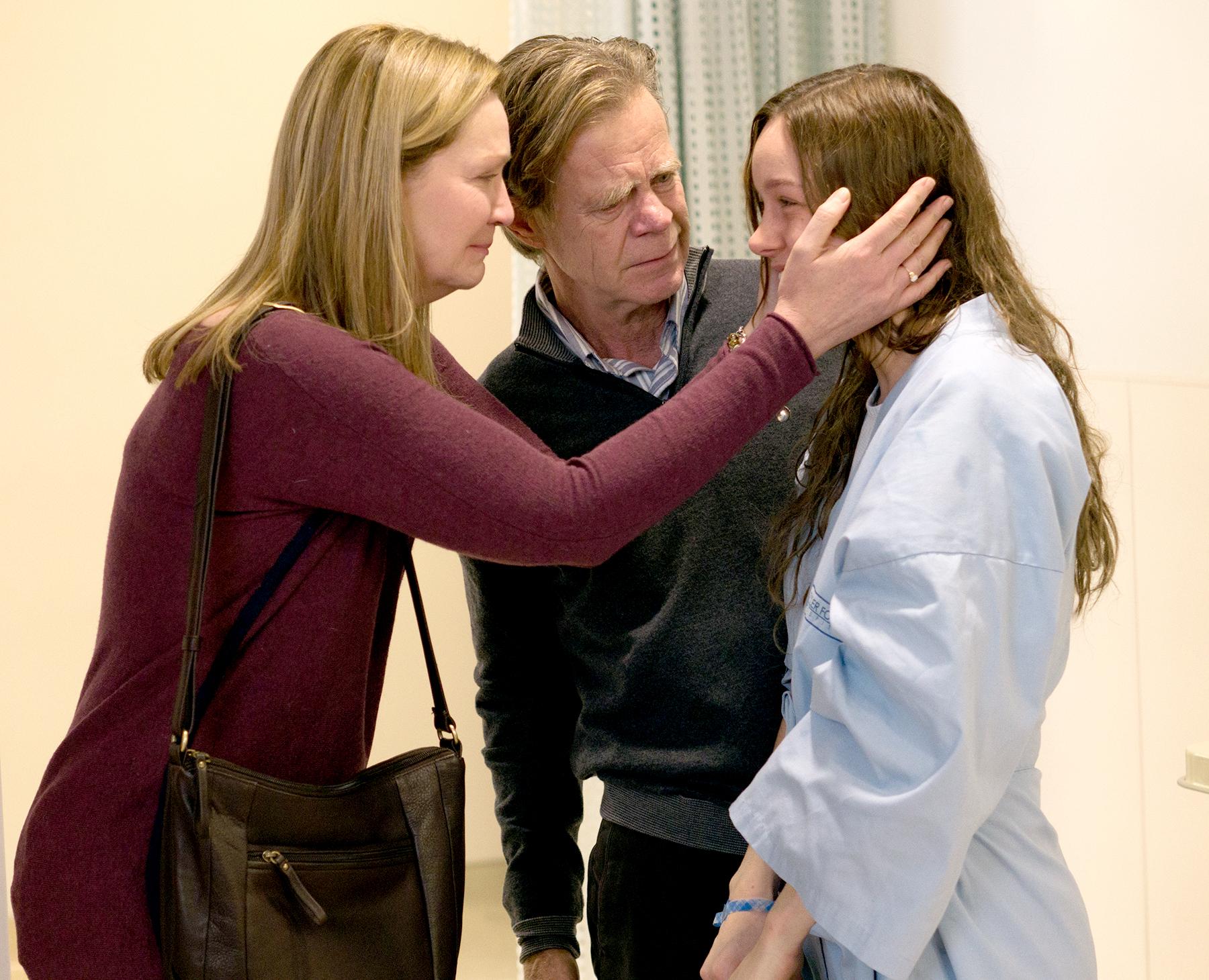 Joan Allen, William H. Macy and Brie Larson in Room.