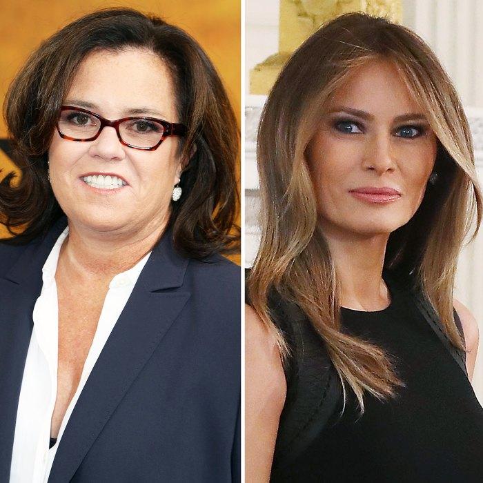 Rosie O'Donnell Melania Trump