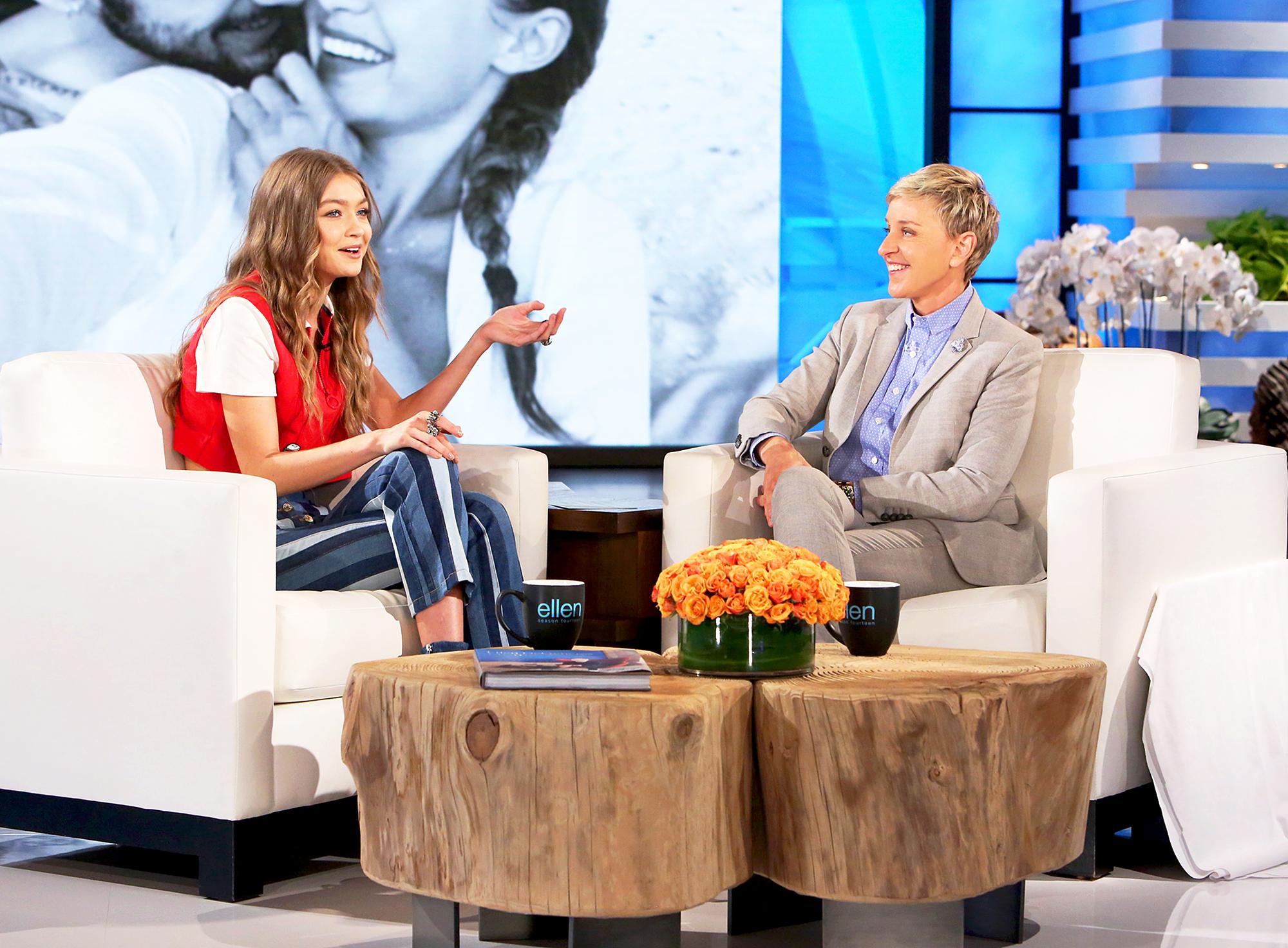 Gigi Hadid and Ellen DeGeneres