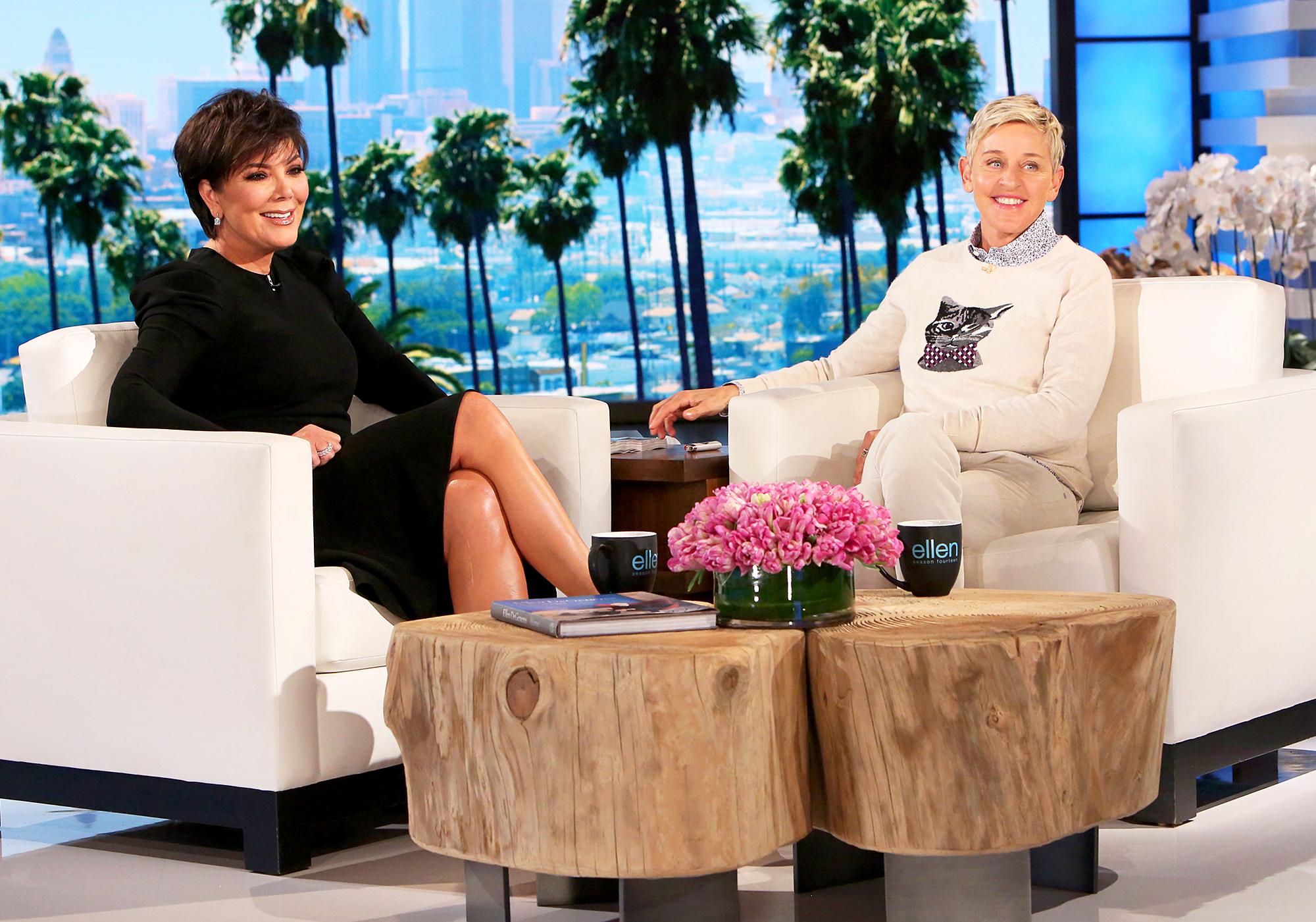 Kris Jenner and Ellen DeGeneres