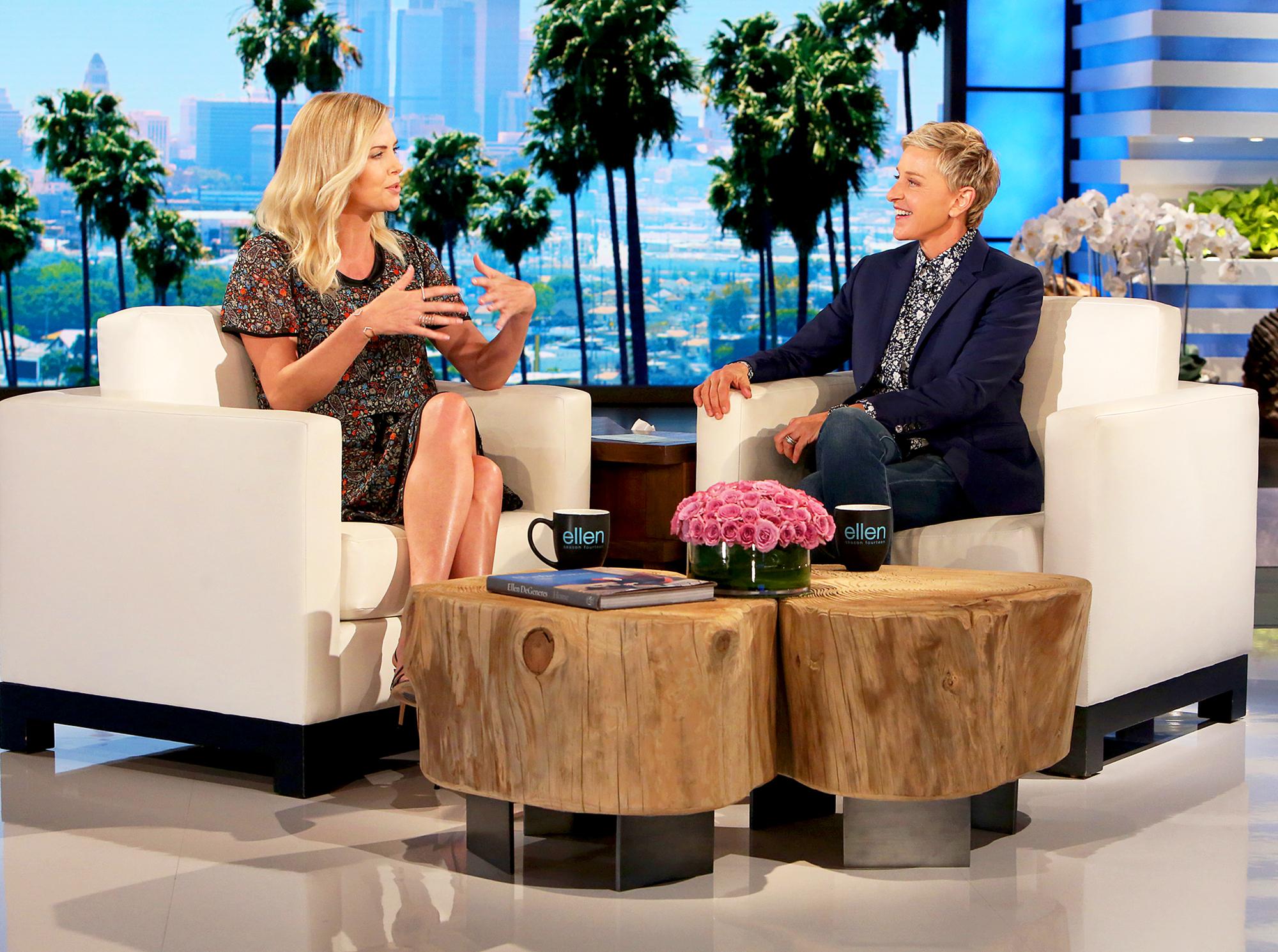 Charlize Theron and Ellen DeGeneres