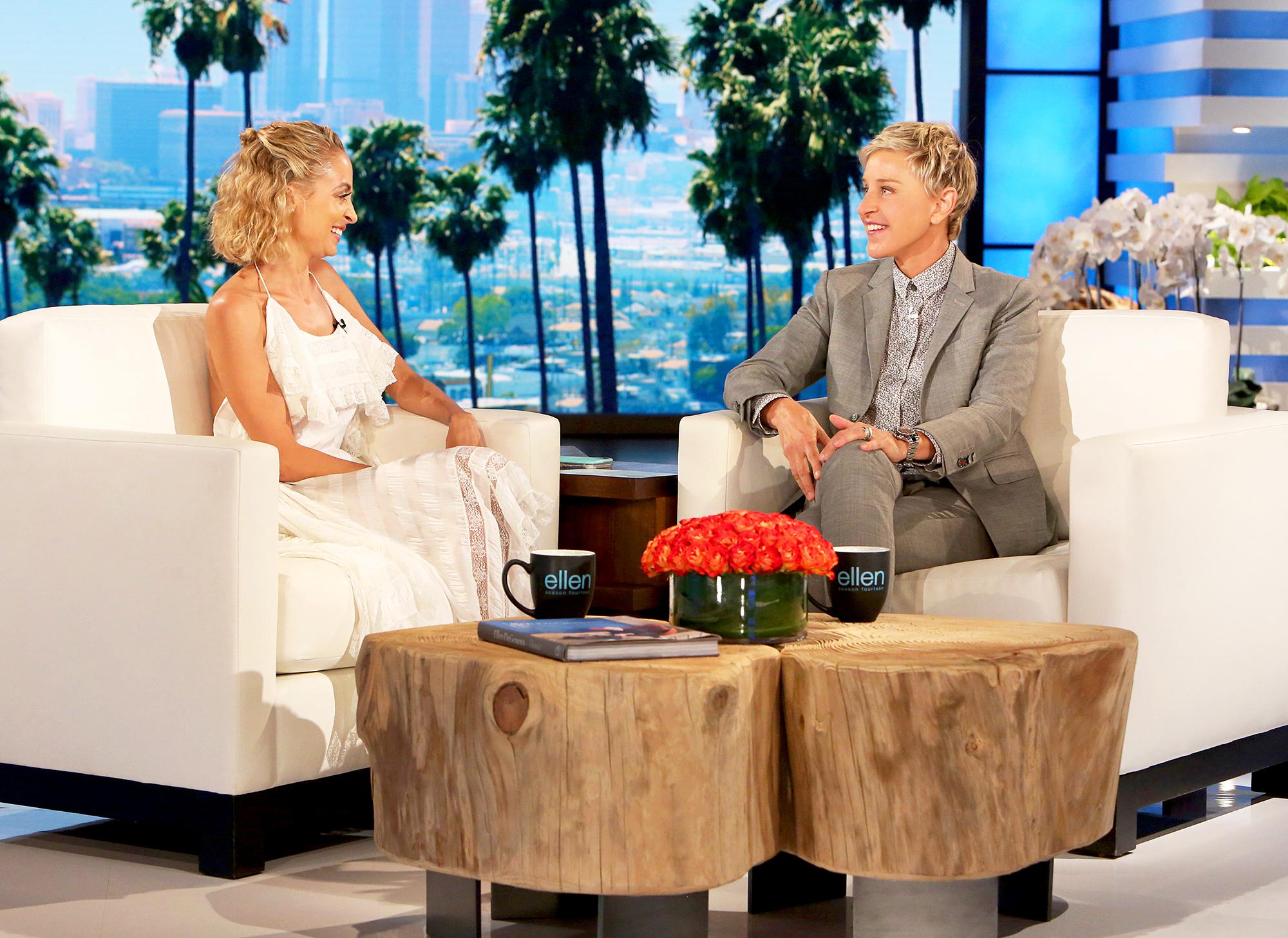 Nicole Richie and Ellen DeGeneres