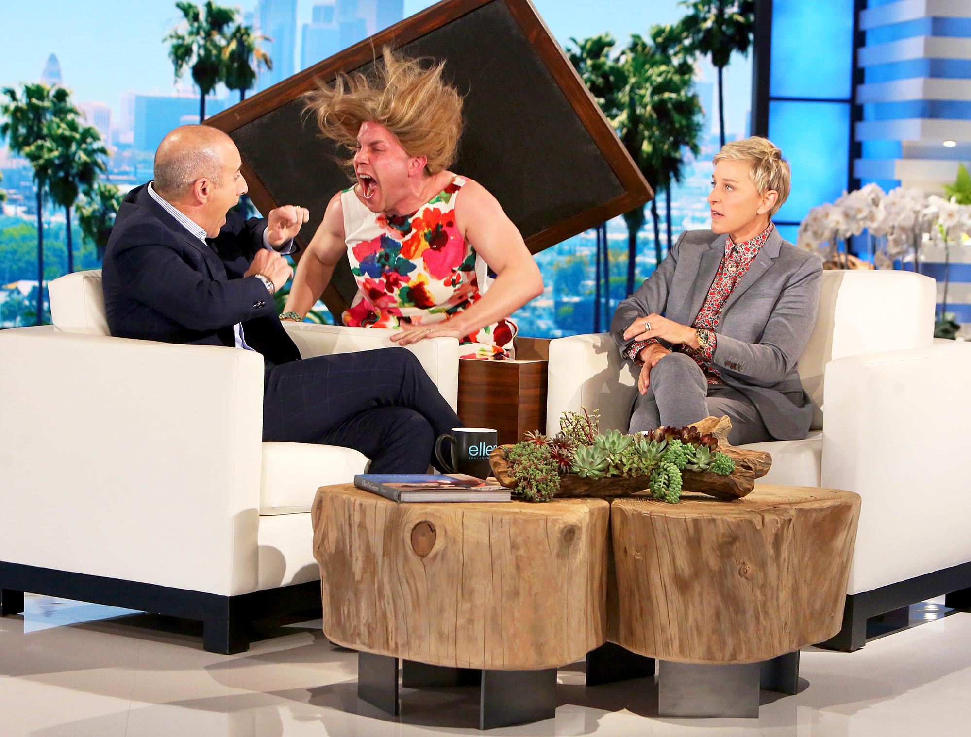 Matt Lauer and Ellen DeGeneres