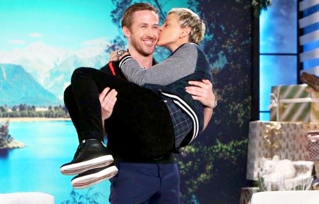 Ryan Gosling and Ellen DeGeneres