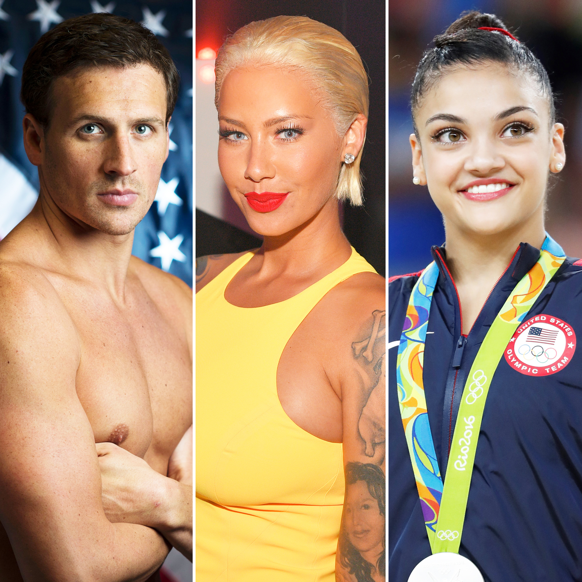 Ryan Lochte, Amber Rose and Lauren Hernandez