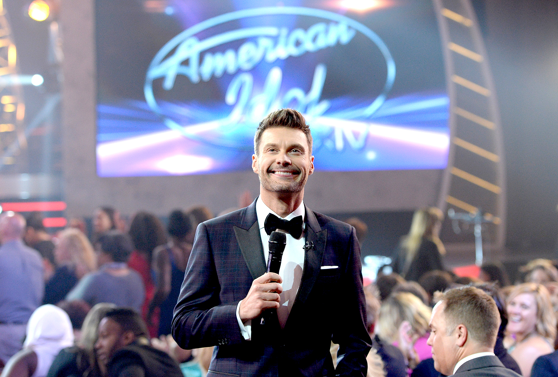 "Ryan Seacrest speaks during ""American Idol"" XIV Grand Finale at Dolby Theatre on May 13, 2015 in Hollywood, California."