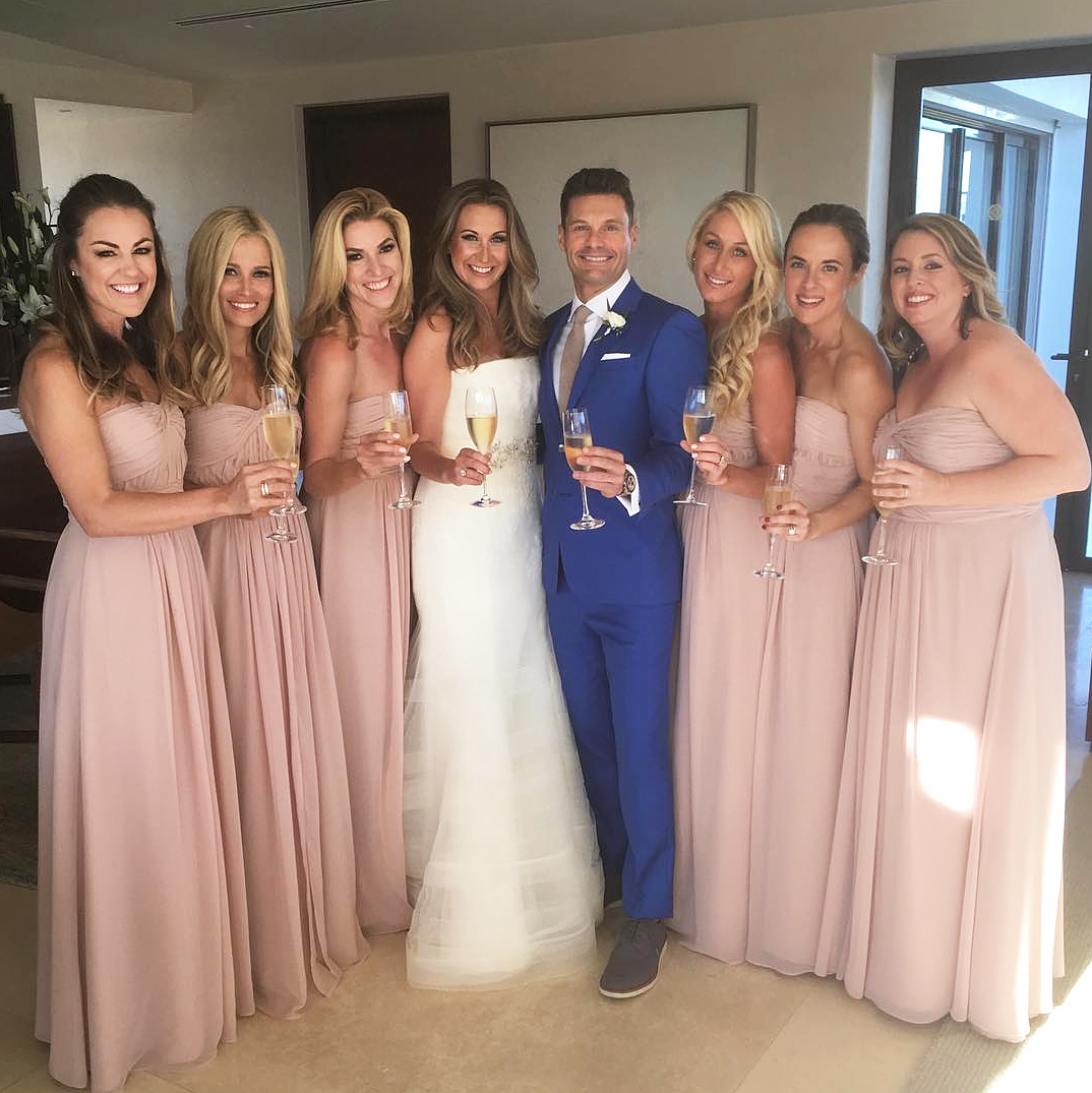Ryan seacrest serves as man of honor for sisters wedding ryan seacrest man of honor moh junglespirit Image collections