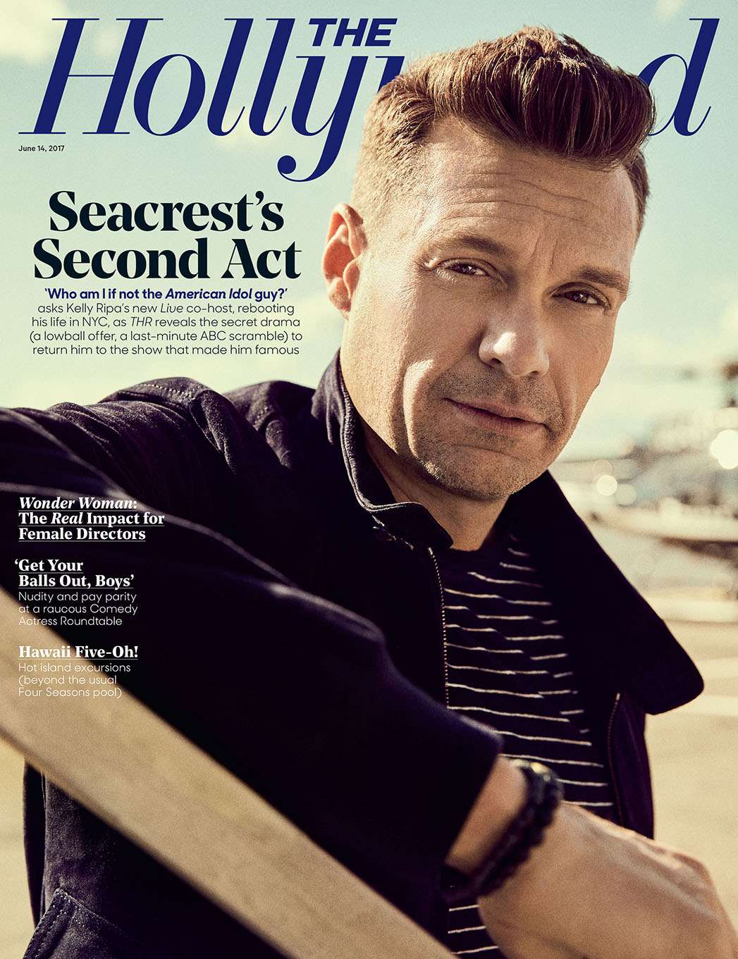 Ryan Seacrest on the cover of The Hollywood