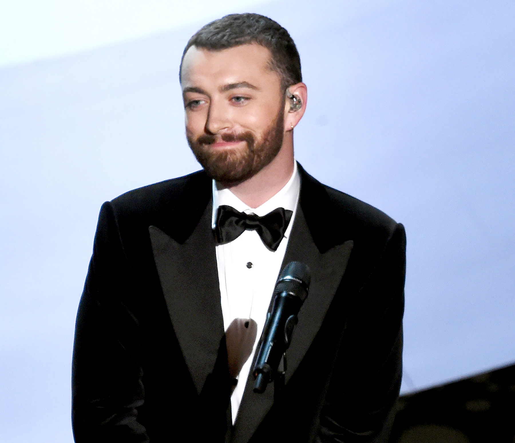 Sam Smith performs onstage during the 88th Annual Academy Awards.
