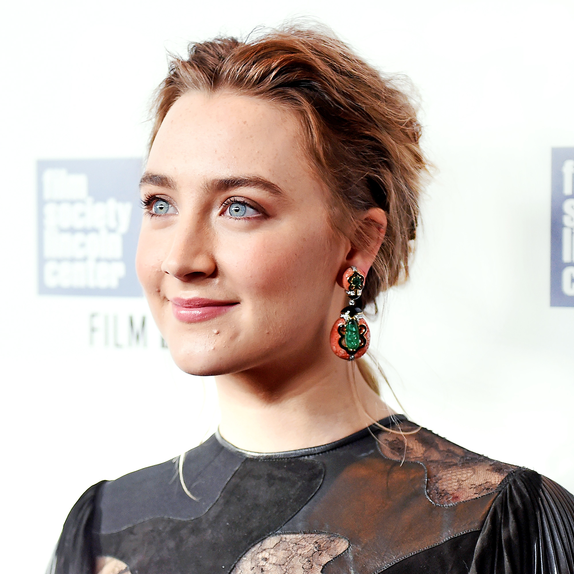 Saoise Ronan attends the 53rd New York Film Festival Premiere of