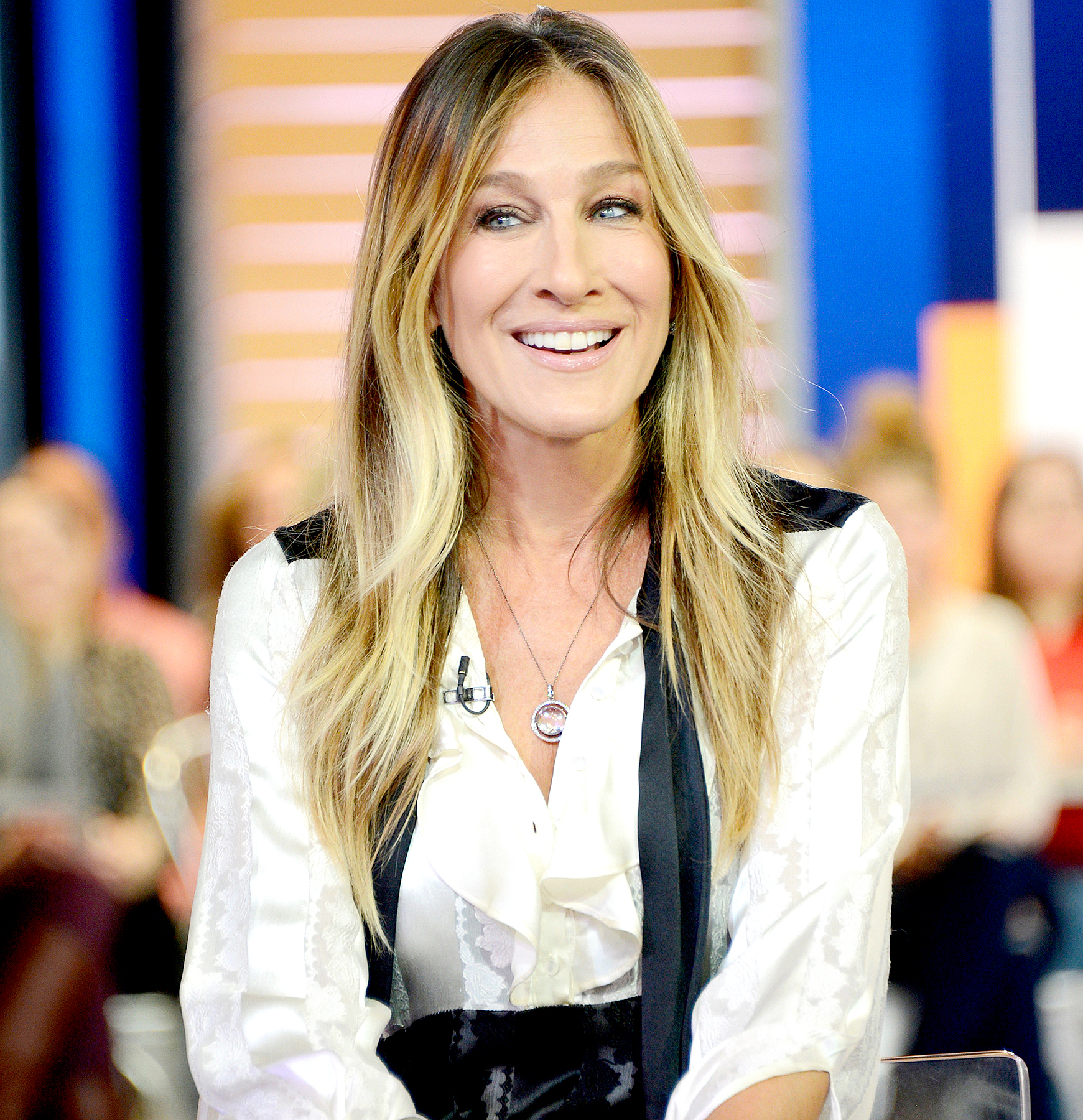Sarah Jessica Parker attends a photocall/meets fans as she launches her new fragrance 'Stash' at Superdrug, Westfield White City on September 14, 2016 in London, England.