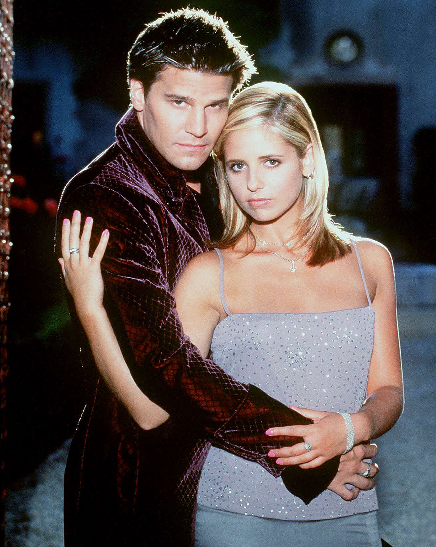 Sarah Michelle Gellar and David Boreanaz in 1998