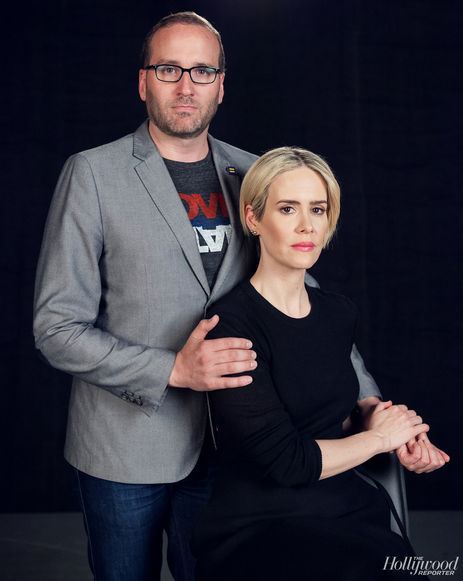 Chad Griffin and Sarah Paulson