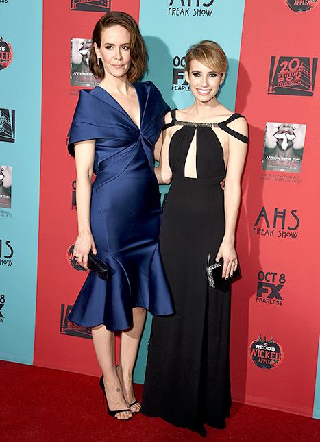Sarah Paulson and Emma Roberts