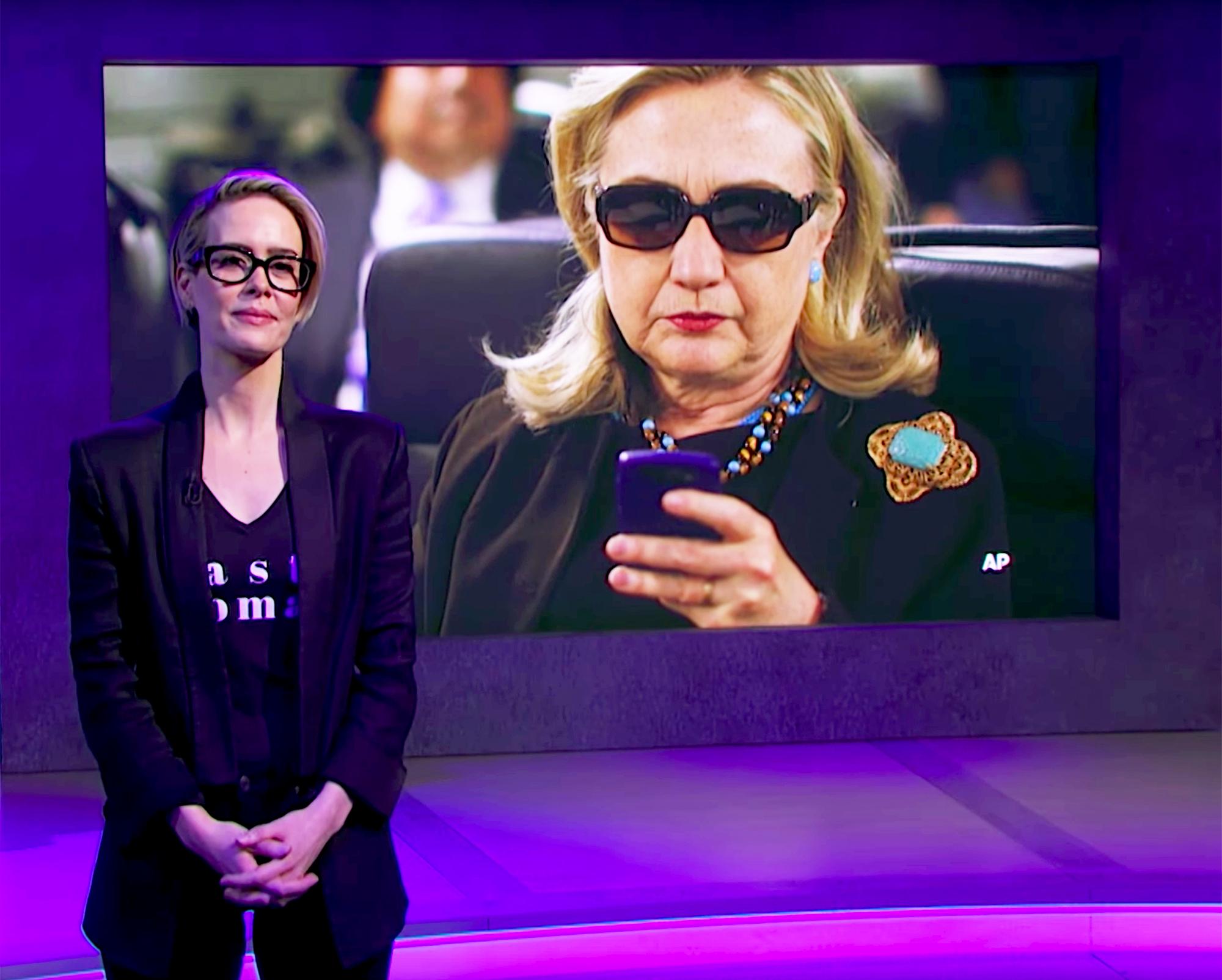 Sarah Paulson and Hillary Clinton