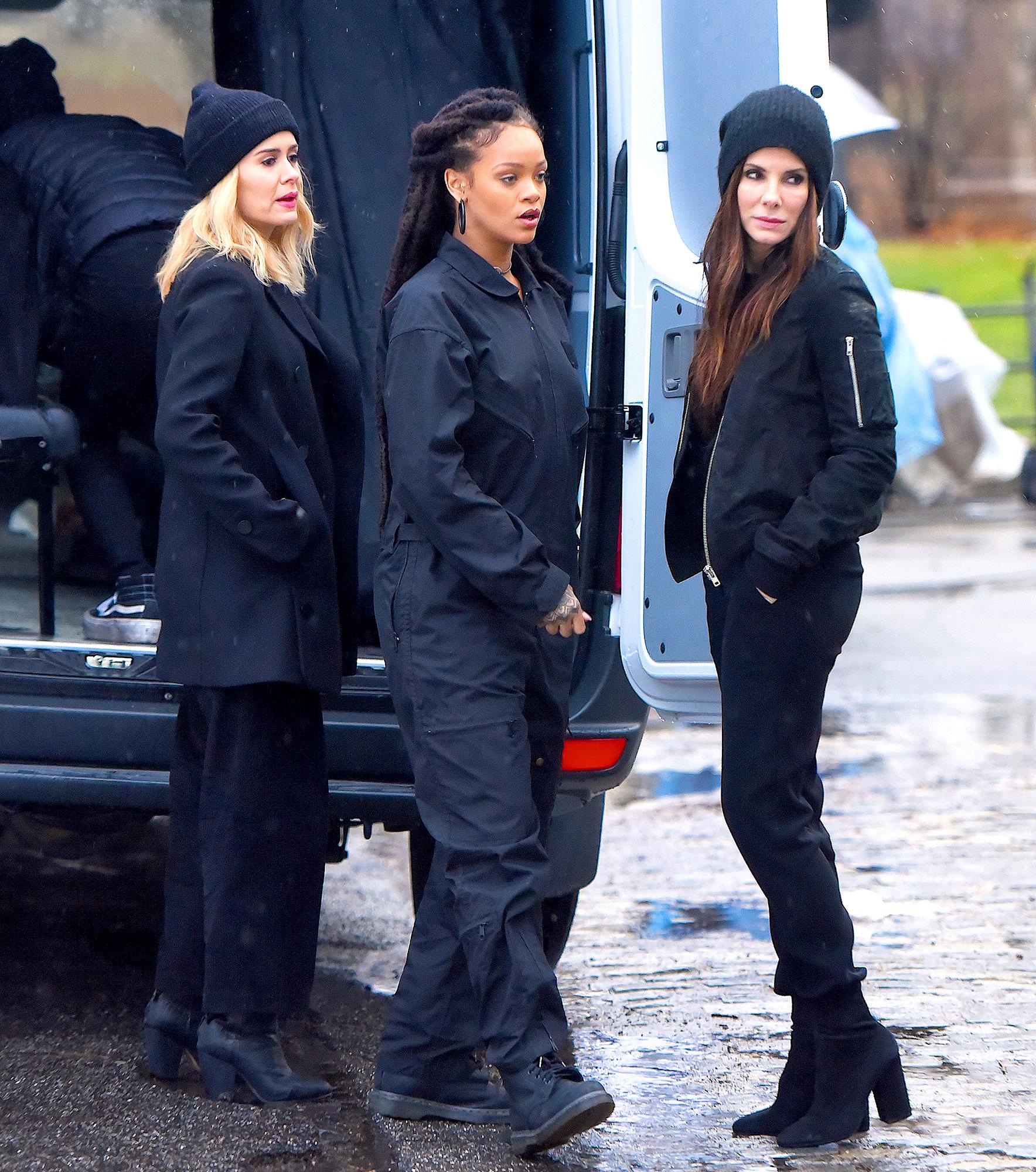 Sarah Paulson, Rihanna and Sandra Bullock seen at the