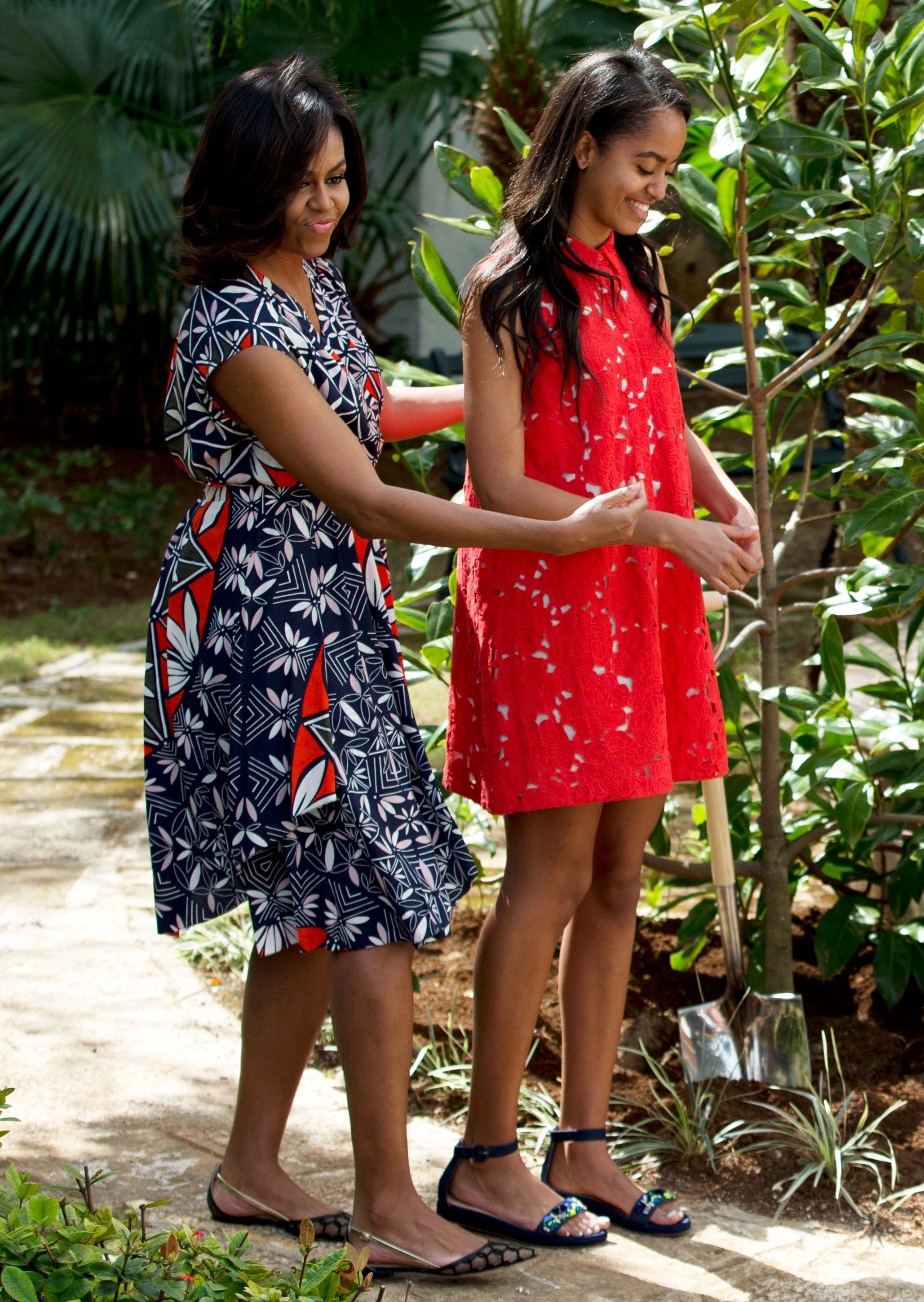 Michelle and Malia Obama
