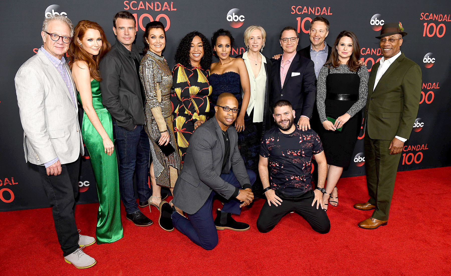 The cast of Scandal attended a 100th episode celebration in West Hollywood, CA.