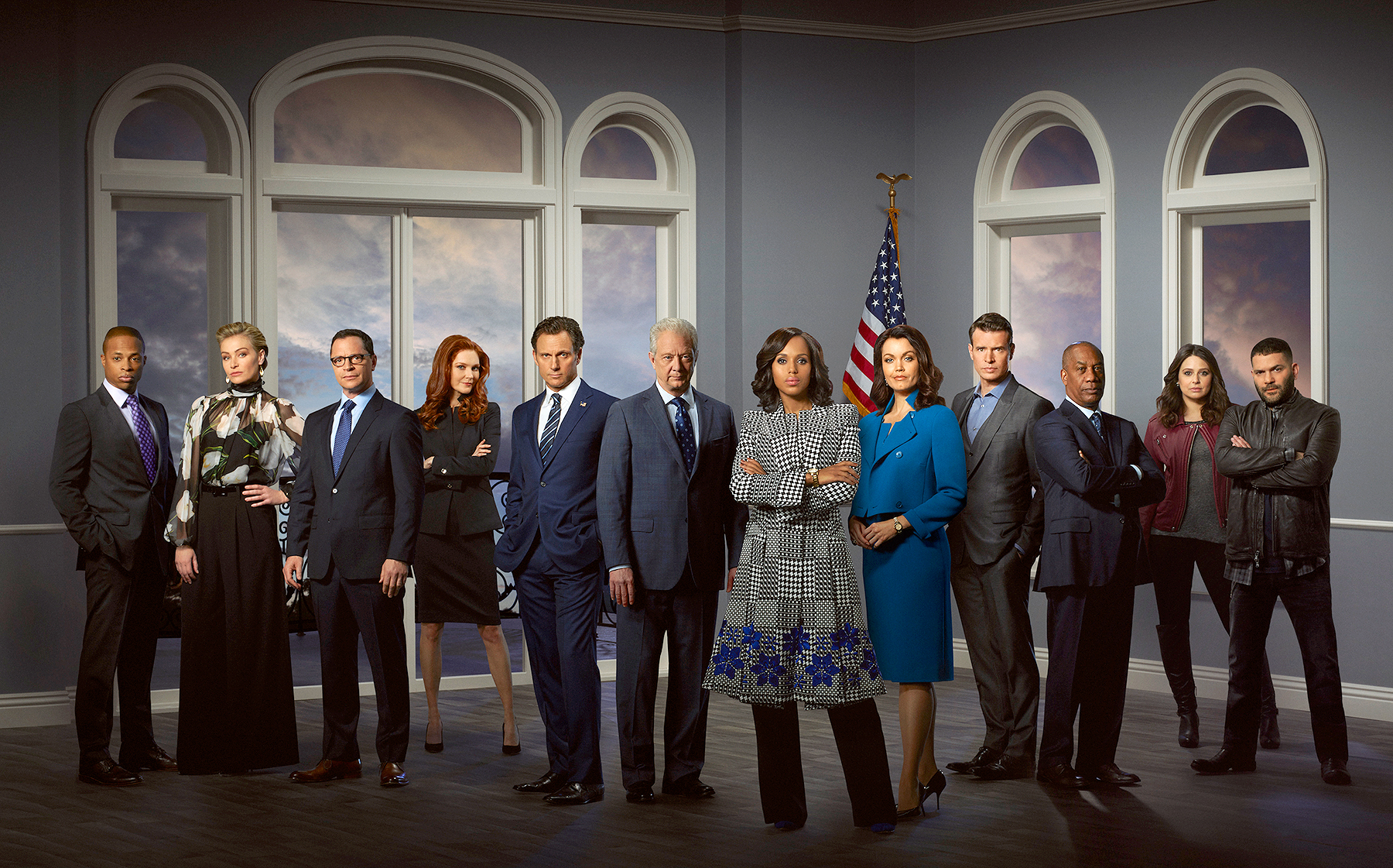 The cast of Scandal.
